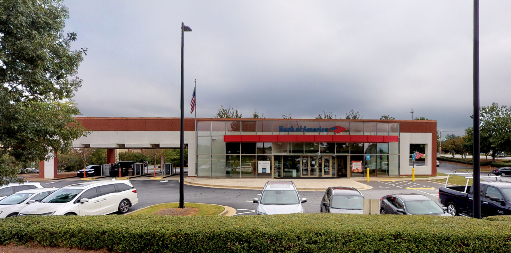 Bank of America financial center with drive-thru ATM   2724 Meadow Church Rd, Duluth, GA 30097