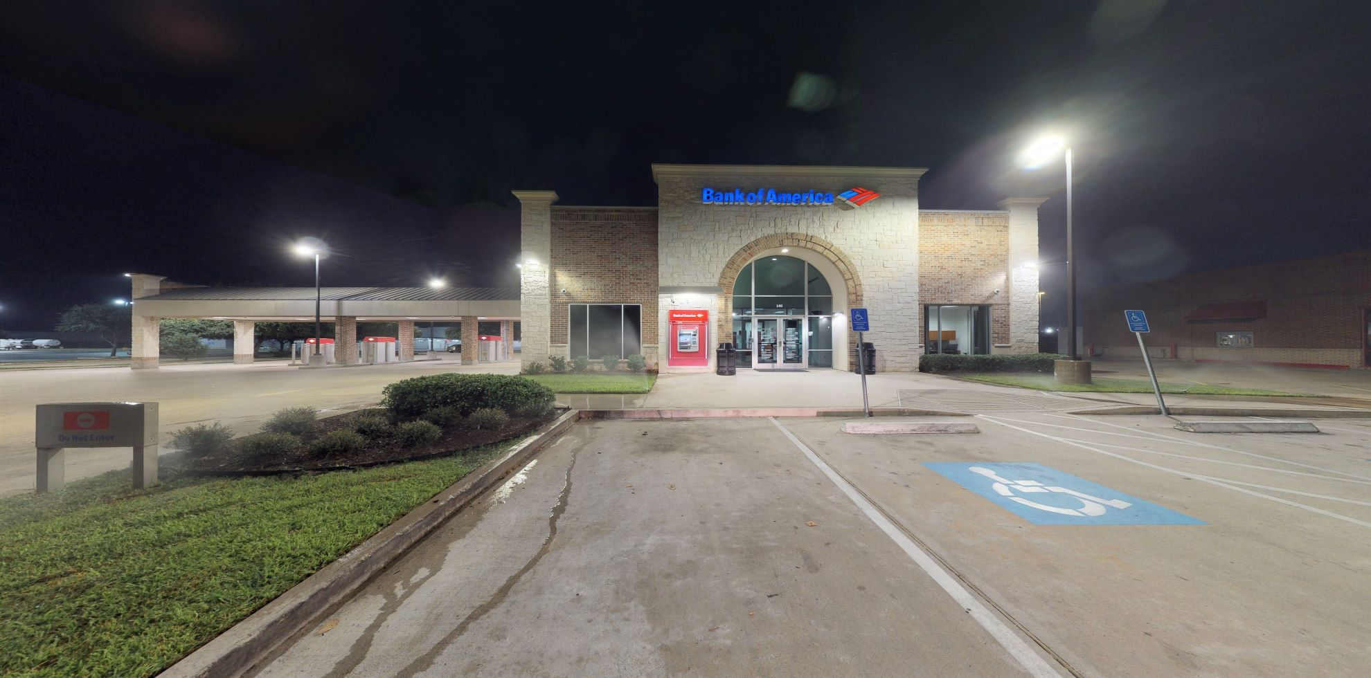 Bank of America financial center with drive-thru ATM   140 E Louetta Rd, Spring, TX 77373