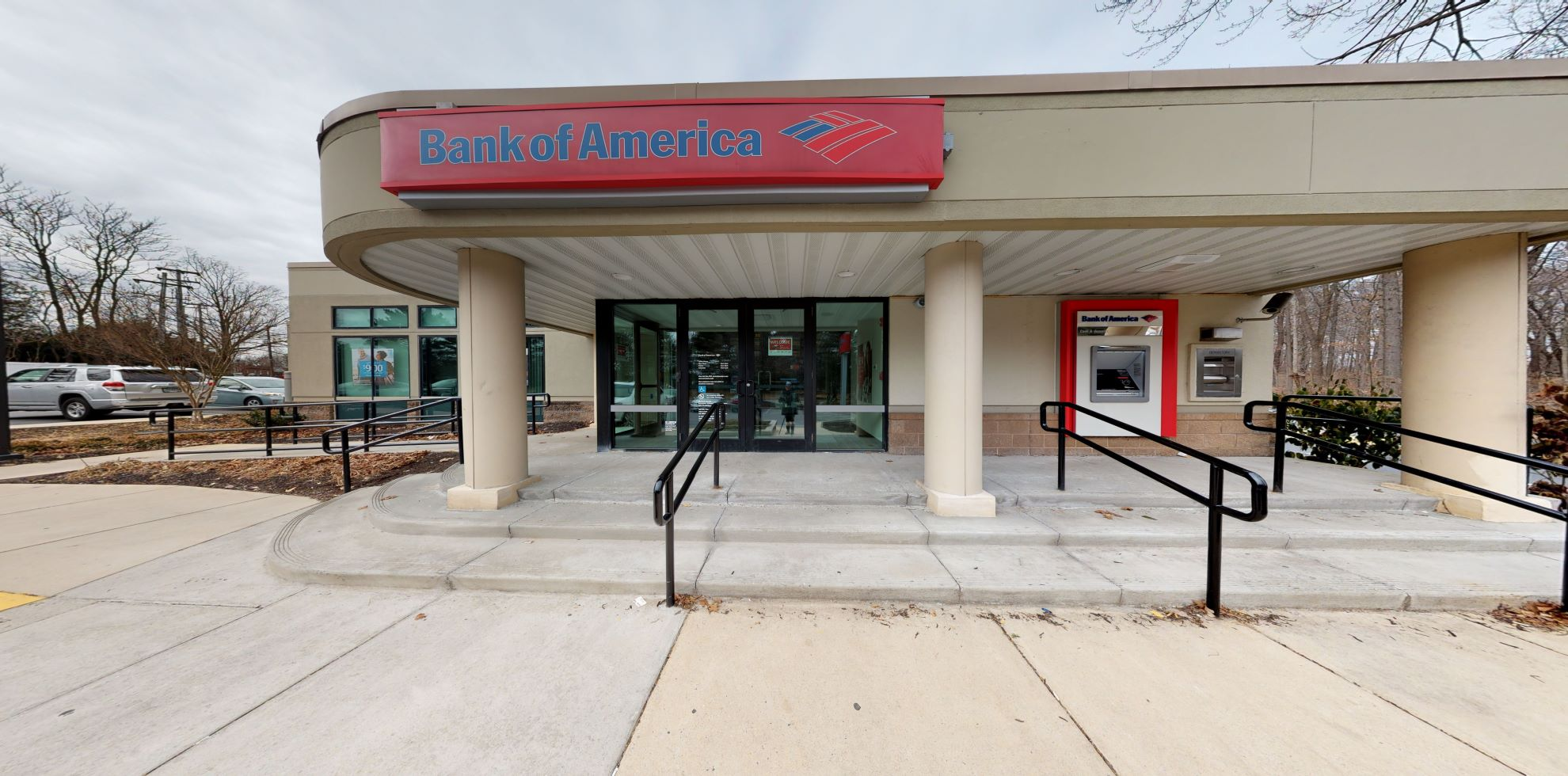 Bank of America financial center with drive-thru ATM and teller | 108 Old Court Rd, Pikesville, MD 21208