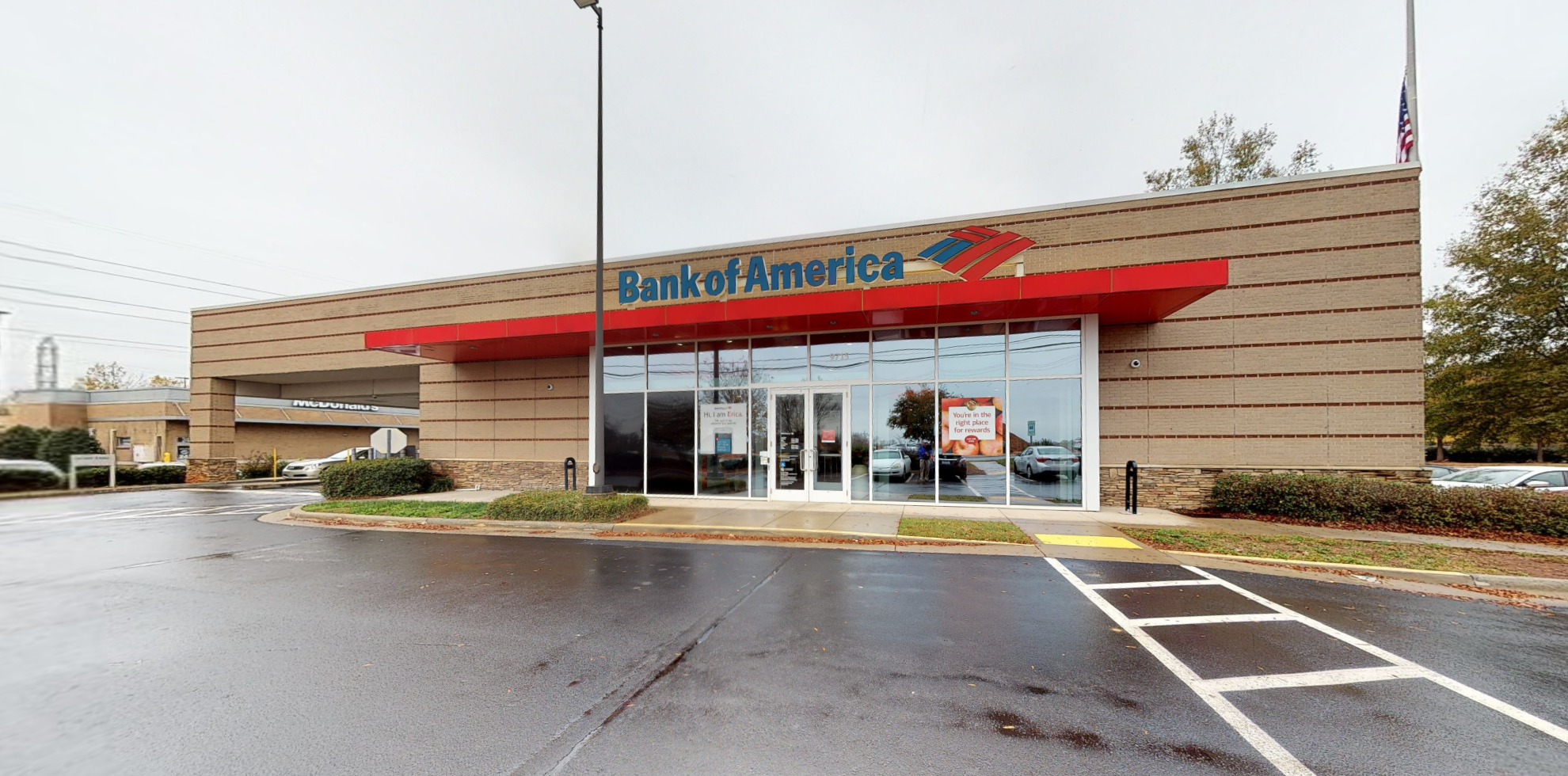 Bank of America financial center with drive-thru ATM and teller   9715 Callabridge Ct, Charlotte, NC 28216