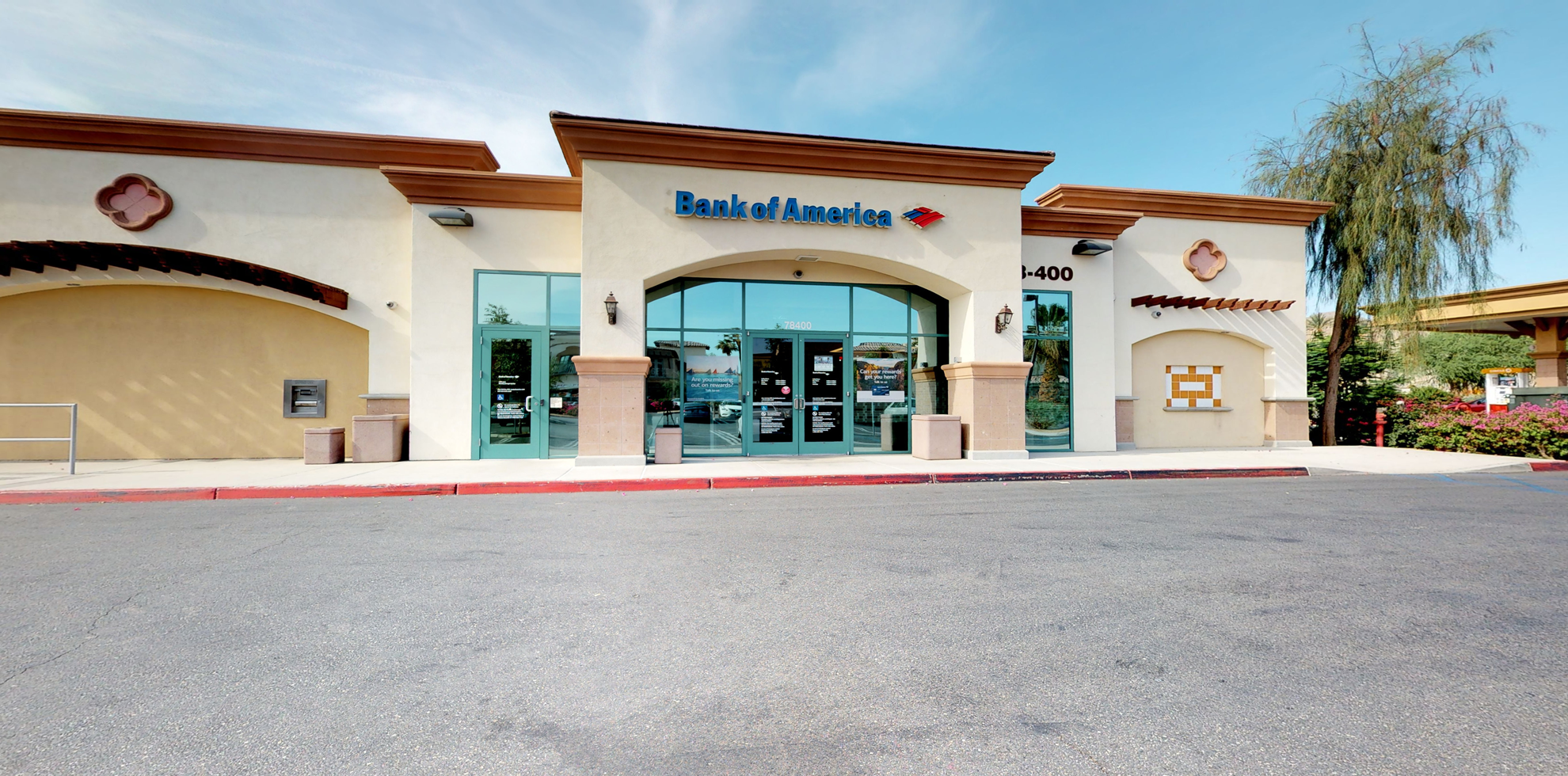 Bank of America financial center with drive-thru ATM   78-400 Highway 111, La Quinta, CA 92253