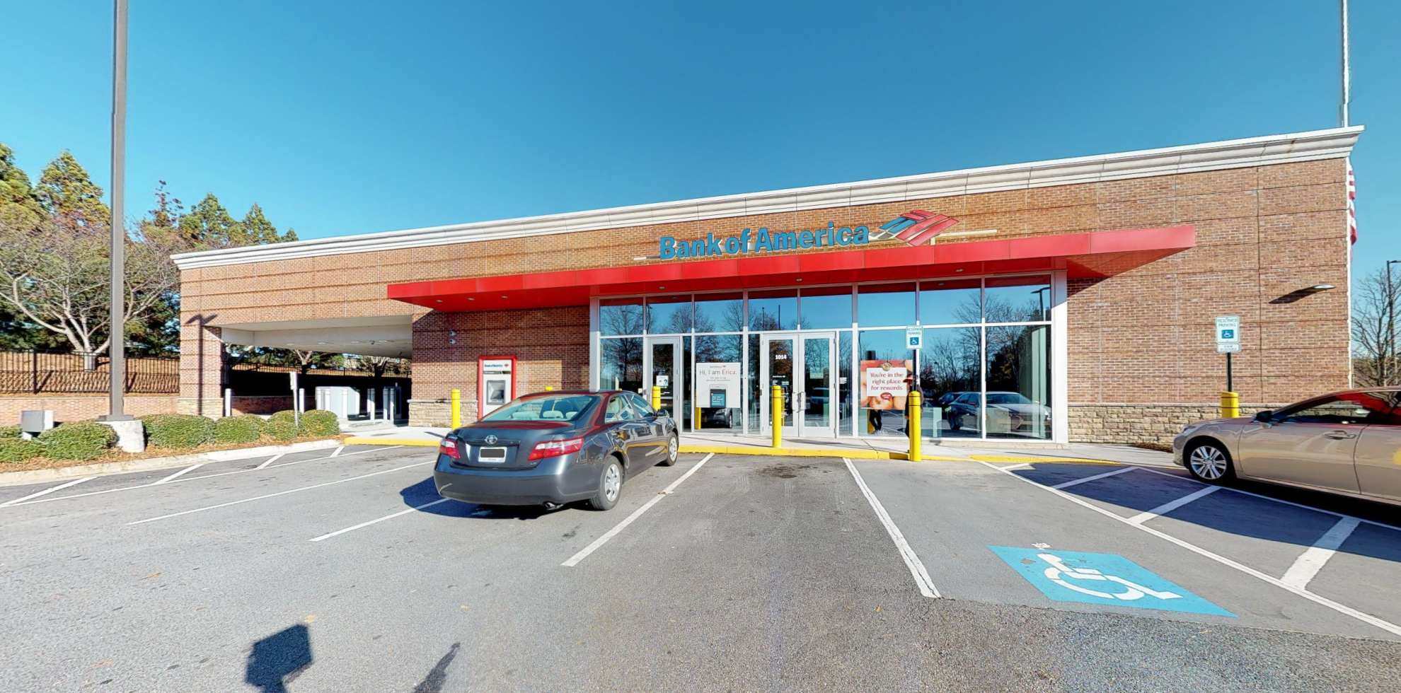 Bank of America financial center with drive-thru ATM   1014 Old Peachtree Rd NW, Lawrenceville, GA 30043