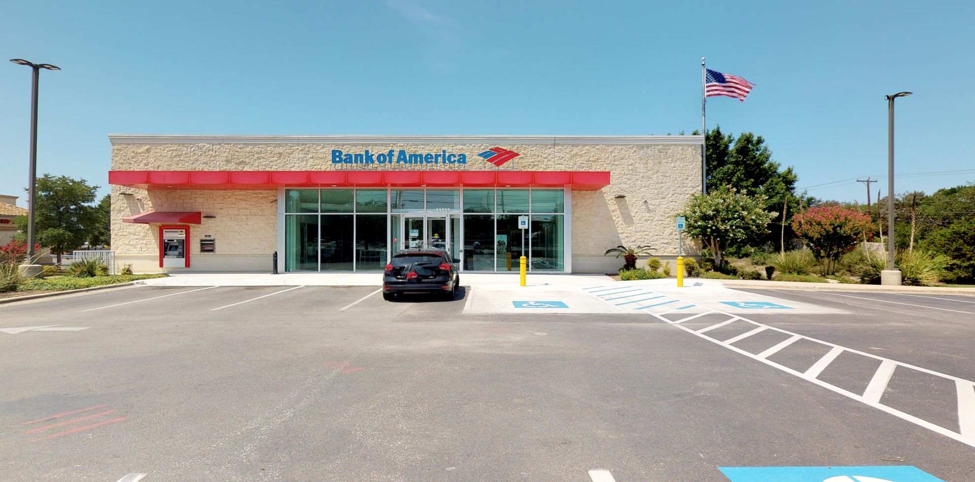 Bank of America financial center with drive-thru ATM   14515 NW Military Hwy, San Antonio, TX 78231