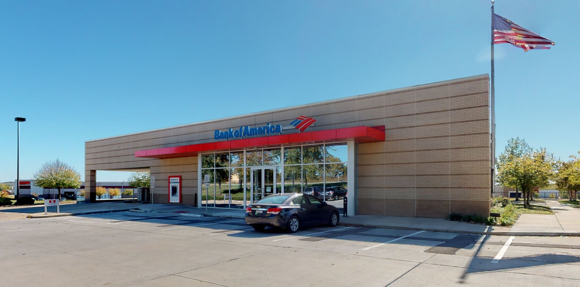 Bank of America financial center with drive-thru ATM   1210 W 135th Ter, Kansas City, MO 64145