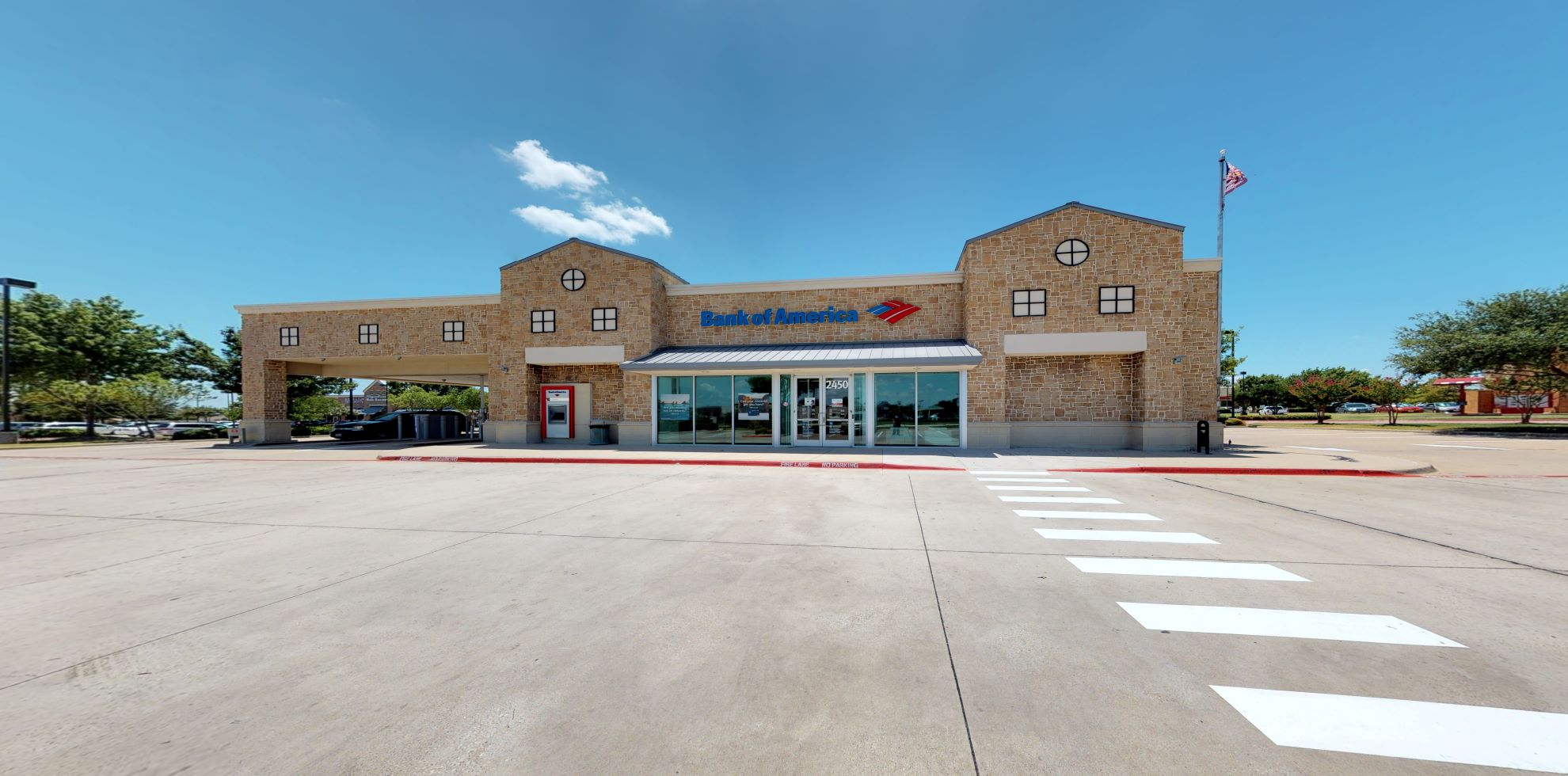 Bank of America financial center with drive-thru ATM and teller   2450 Horizon Rd, Rockwall, TX 75032