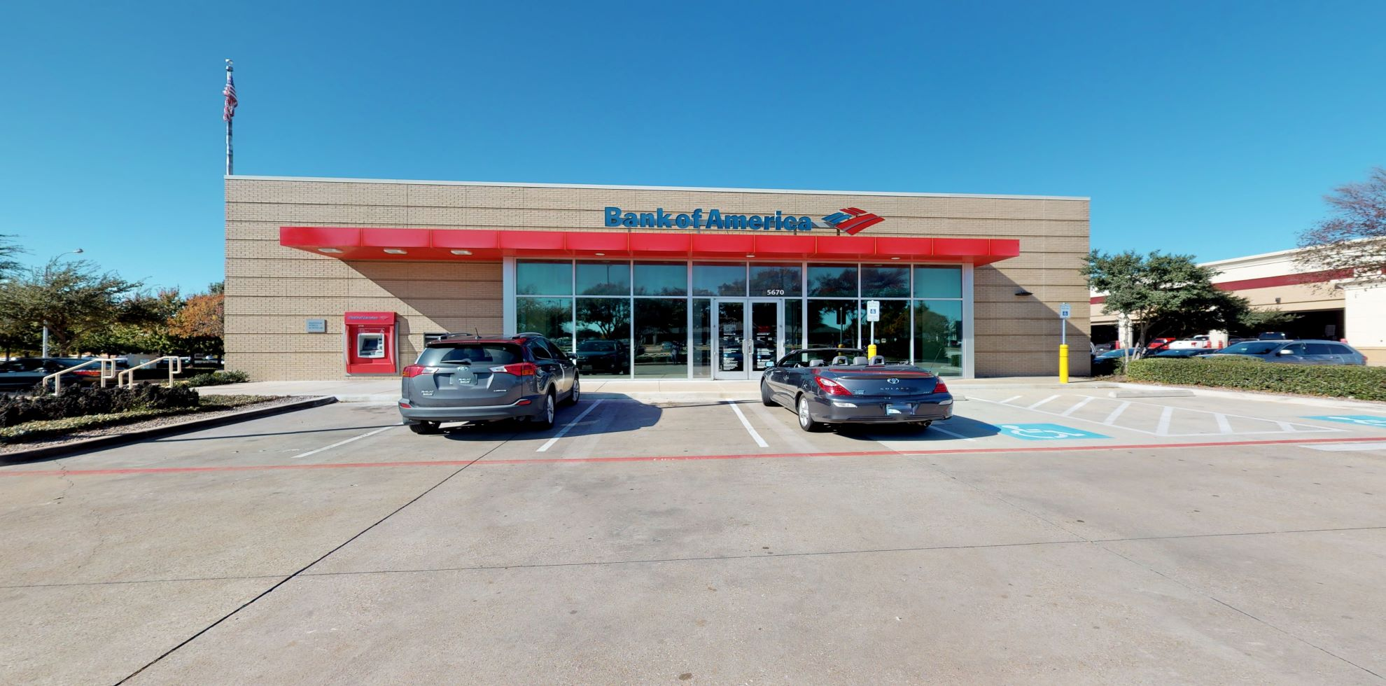 Bank of America financial center with drive-thru ATM | 5670 Bryant Irvin Rd, Fort Worth, TX 76132
