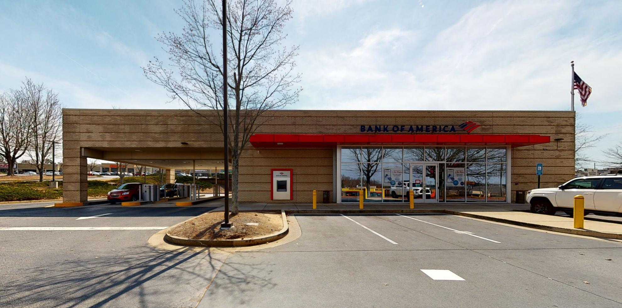 Bank of America financial center with drive-thru ATM   501 Tri County Plz, Cumming, GA 30040