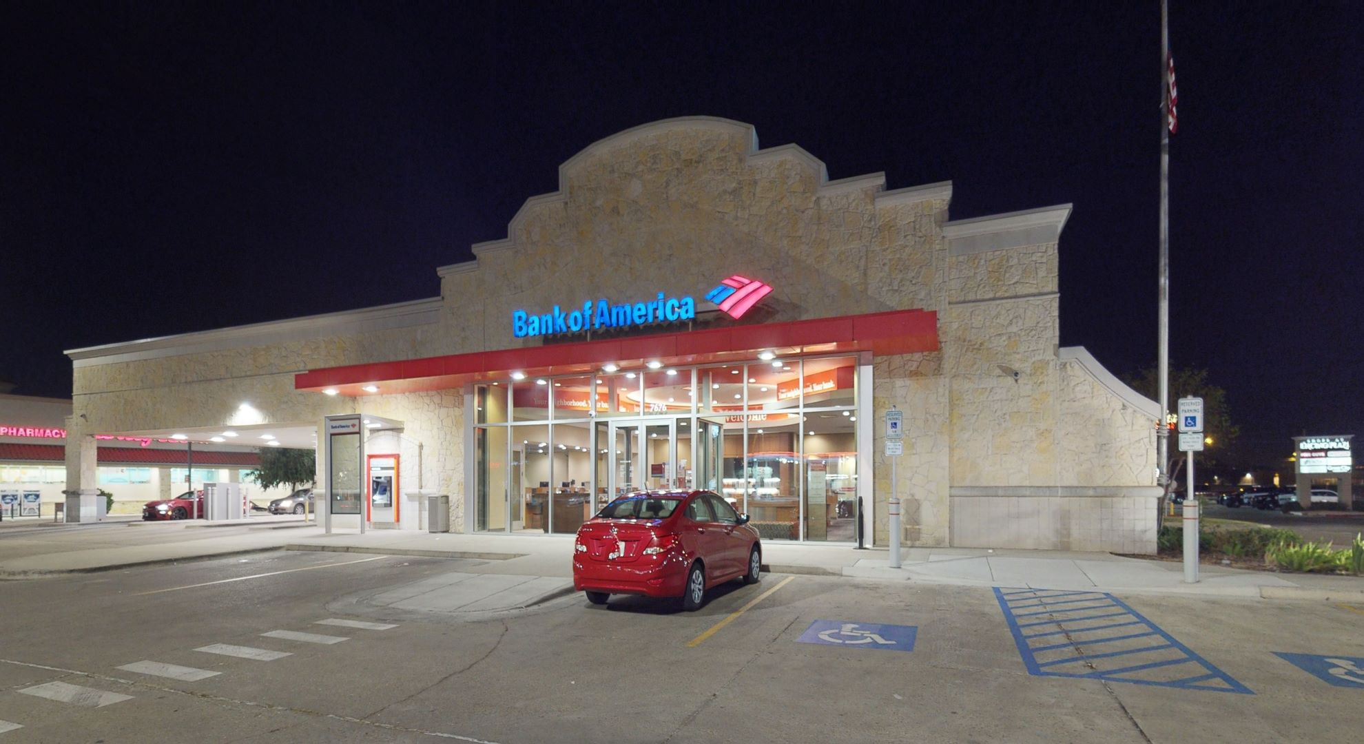 Bank of America financial center with drive-thru ATM and teller   7676 McPherson Rd, Laredo, TX 78041