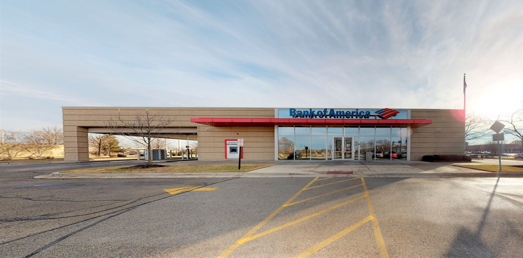Bank of America financial center with drive-thru ATM and teller   896 N Route 59, Aurora, IL 60504