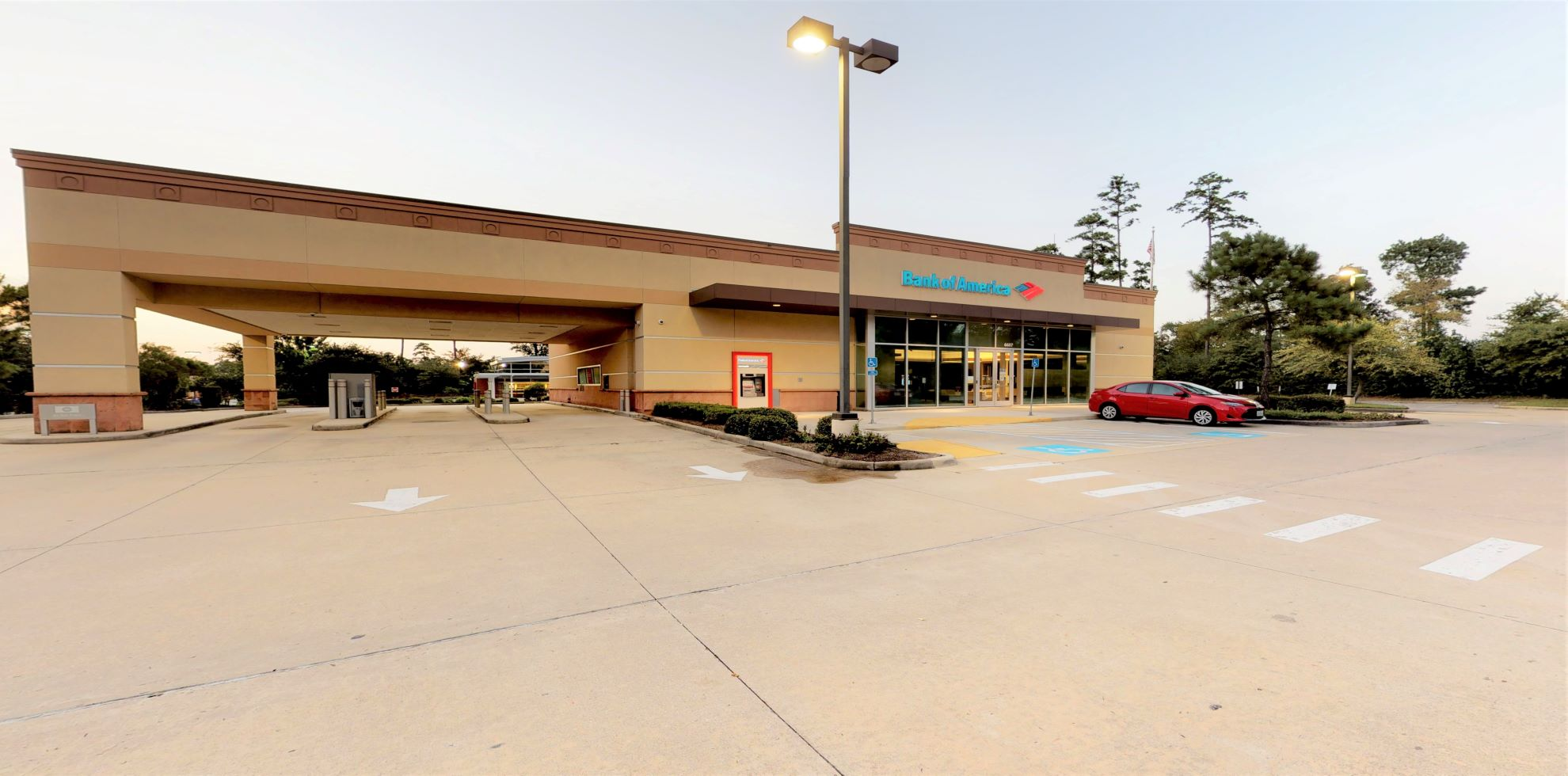 Bank of America financial center with drive-thru ATM   6607 Woodlands Pkwy, The Woodlands, TX 77382