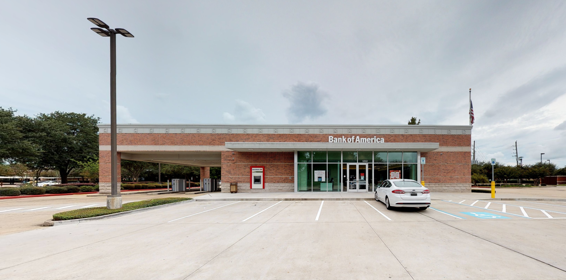 Bank of America financial center with drive-thru ATM   1212 Highway 6, Sugar Land, TX 77478