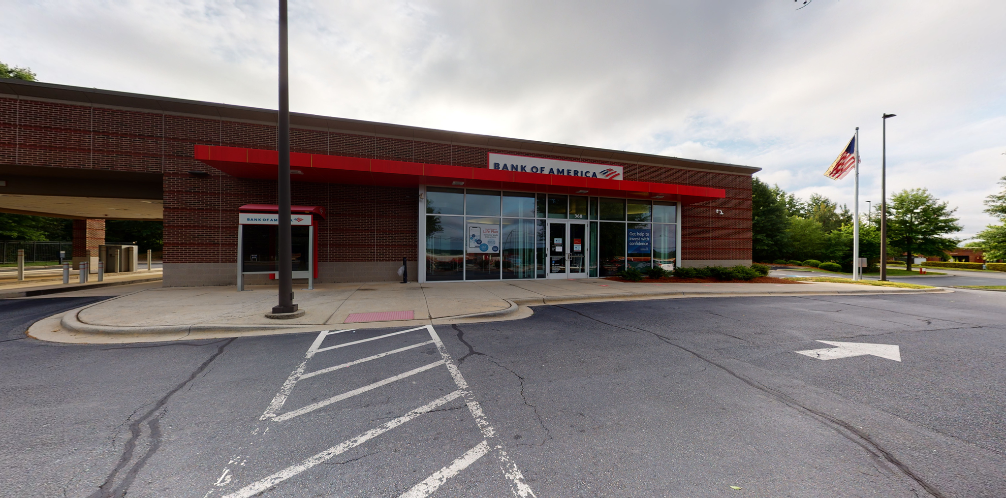 Bank of America financial center with drive-thru ATM   368 George W Liles Pkwy NW, Concord, NC 28027