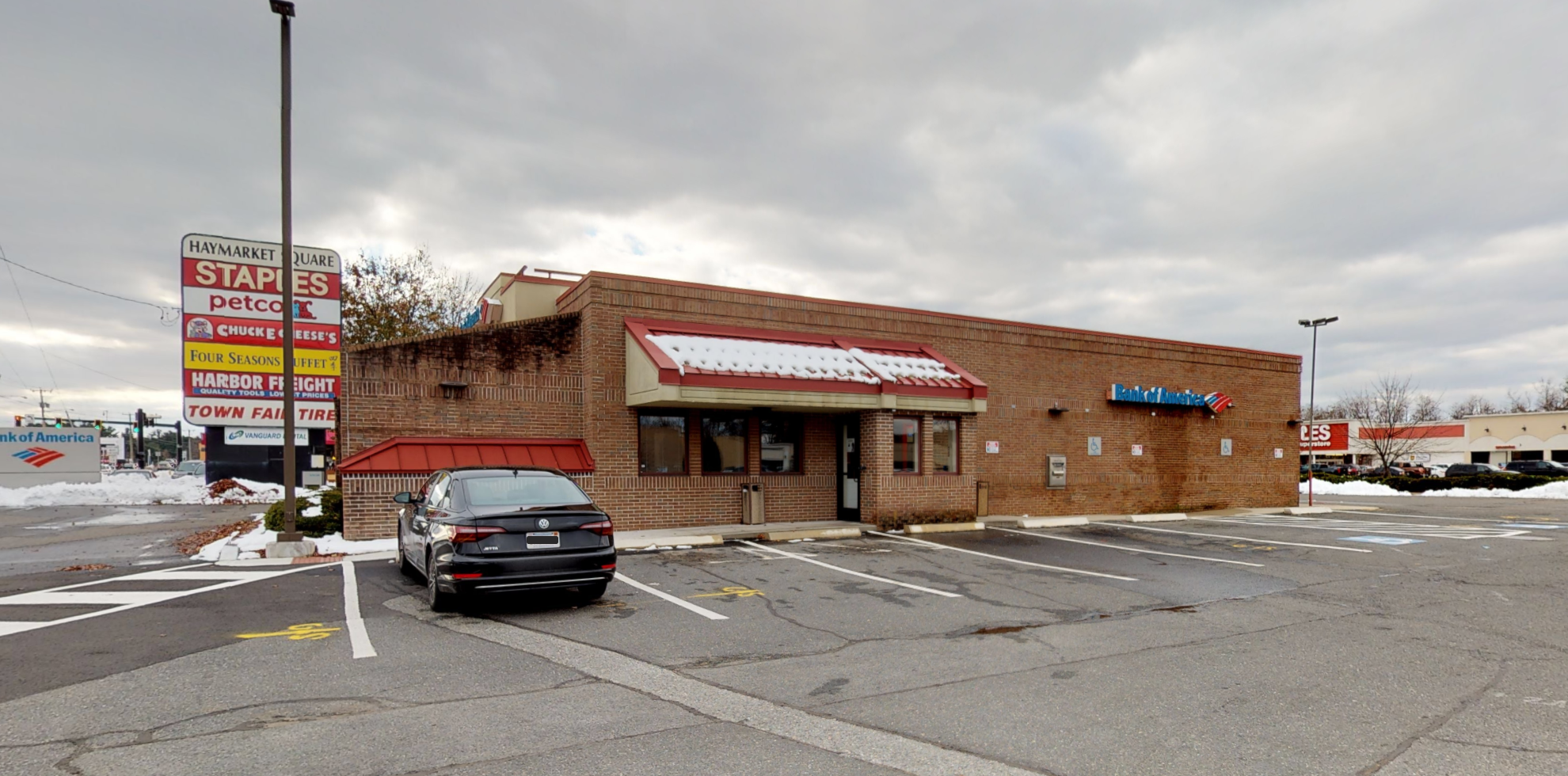 Bank of America financial center with drive-thru ATM   1724 Boston Rd, Springfield, MA 01129