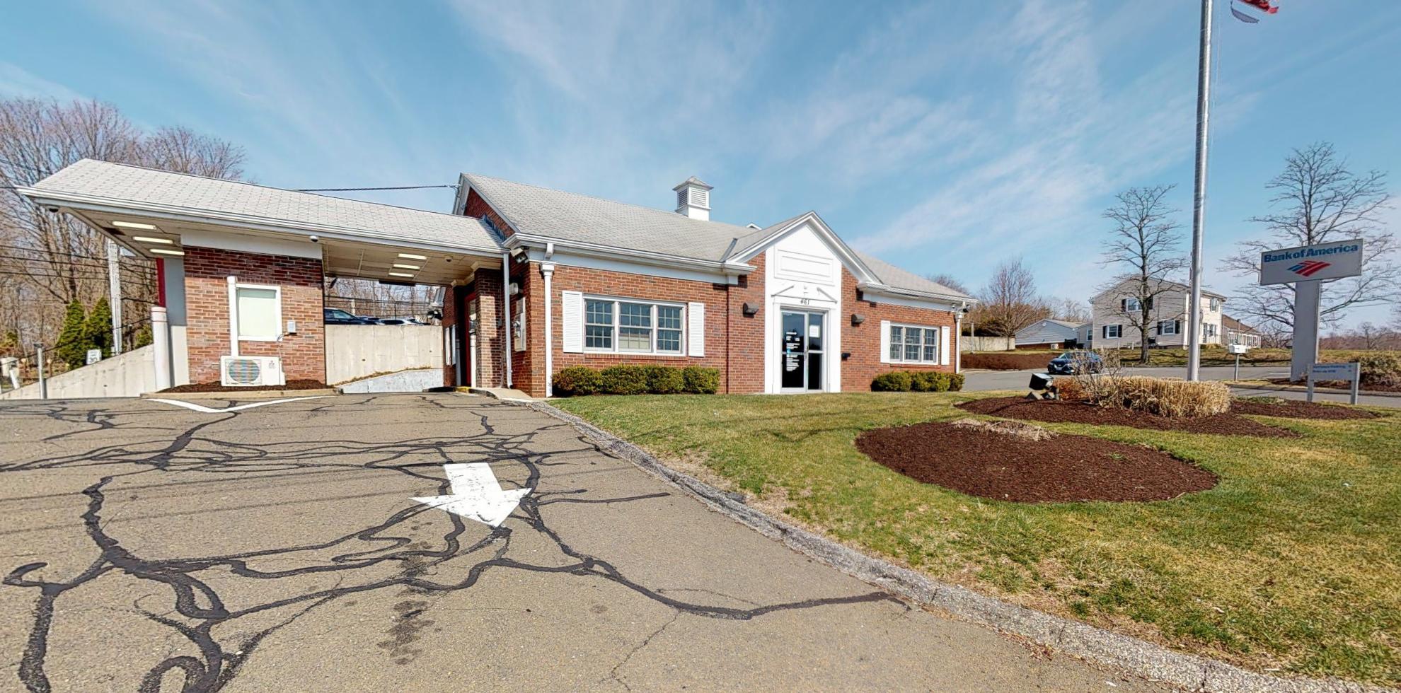 Bank of America financial center with drive-thru ATM   461 Monroe Tpke, Monroe, CT 06468