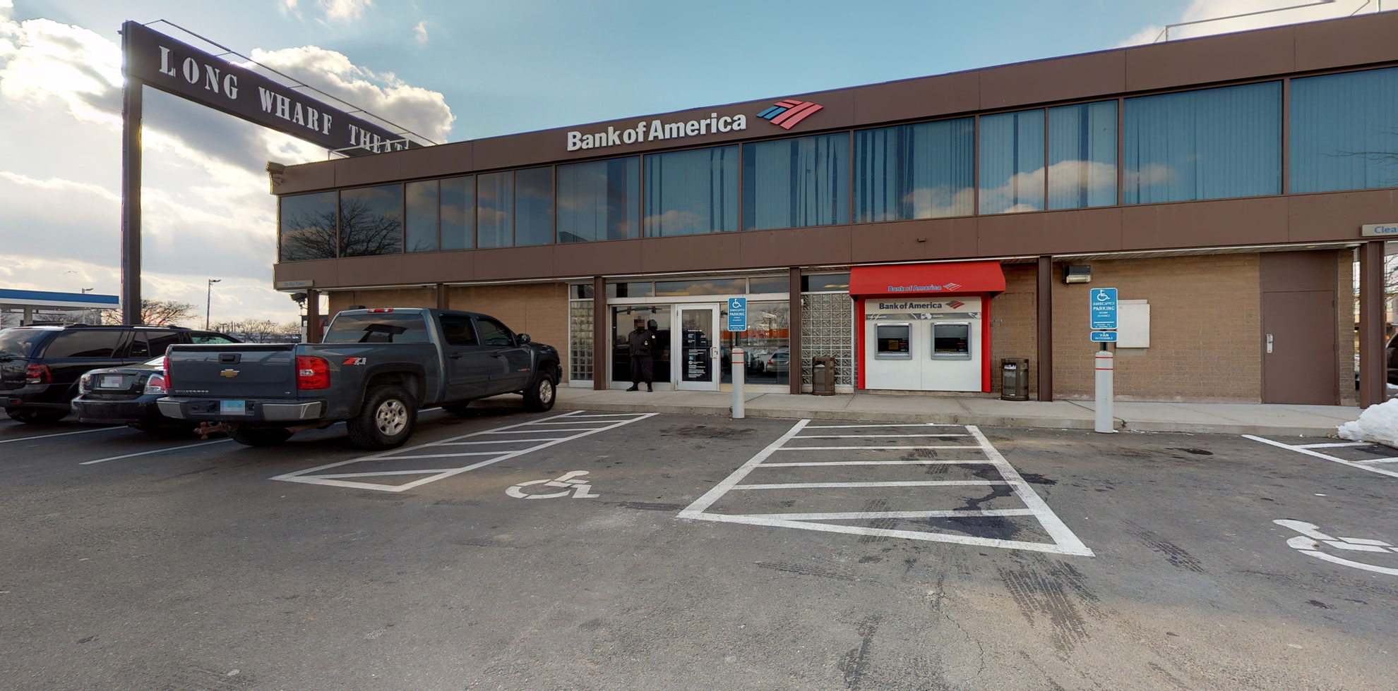 Bank of America financial center with walk-up ATM   250 Sargent Dr, New Haven, CT 06511