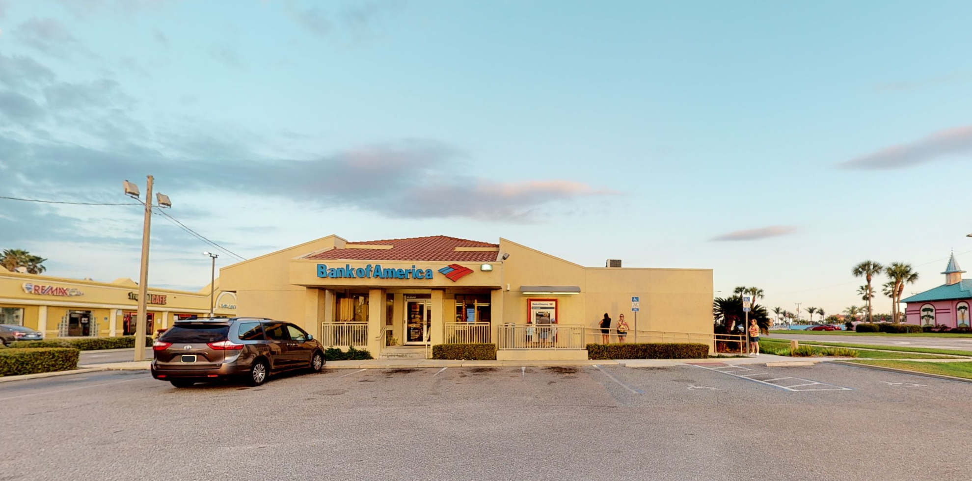 Bank of America financial center with drive-thru ATM | 4300 N Atlantic Ave, Cocoa Beach, FL 32931