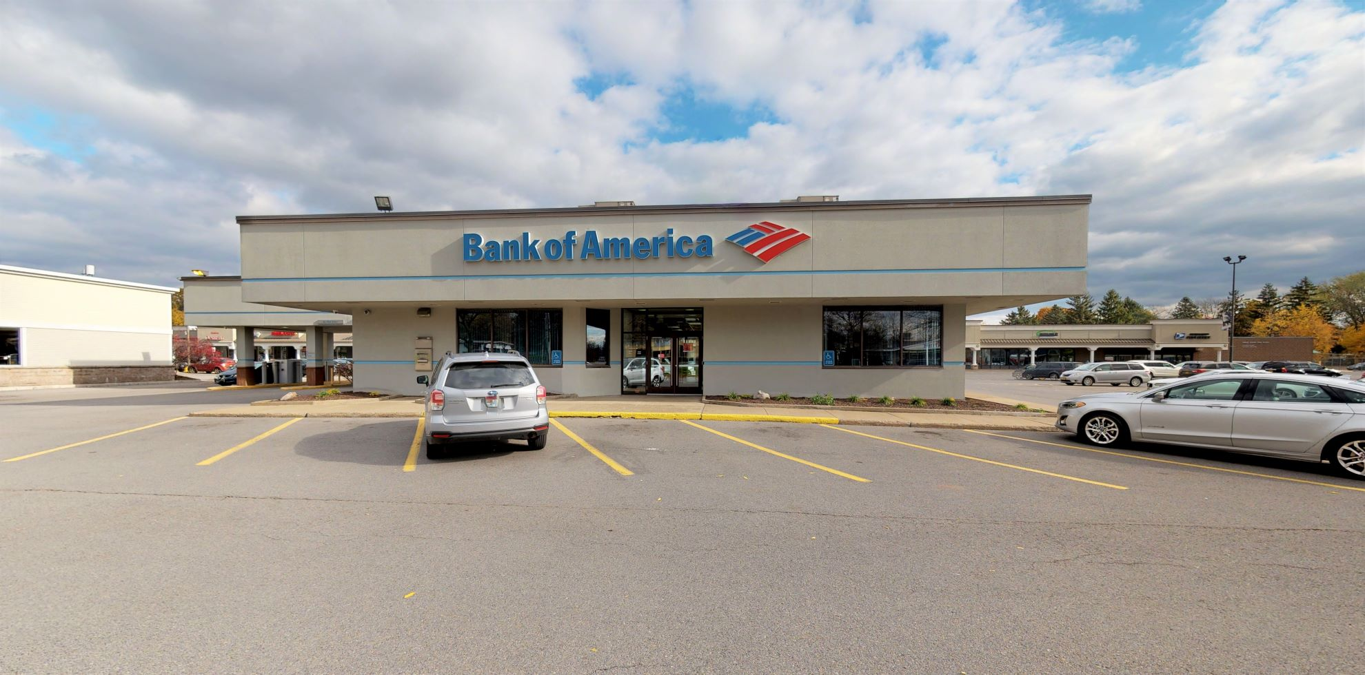 Bank of America financial center with drive-thru ATM and teller   7610 Oswego Rd, Liverpool, NY 13090