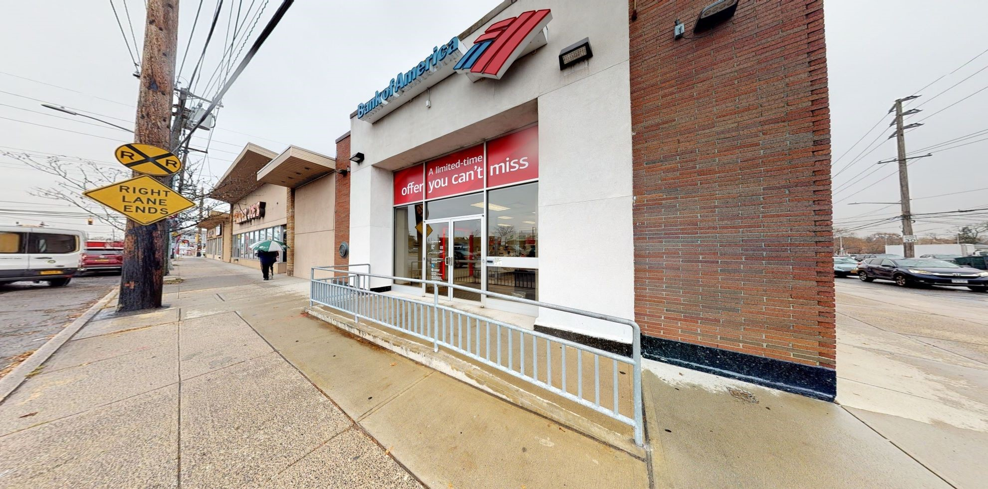 Bank of America financial center with walk-up ATM   1286 W Broadway, Hewlett, NY 11557