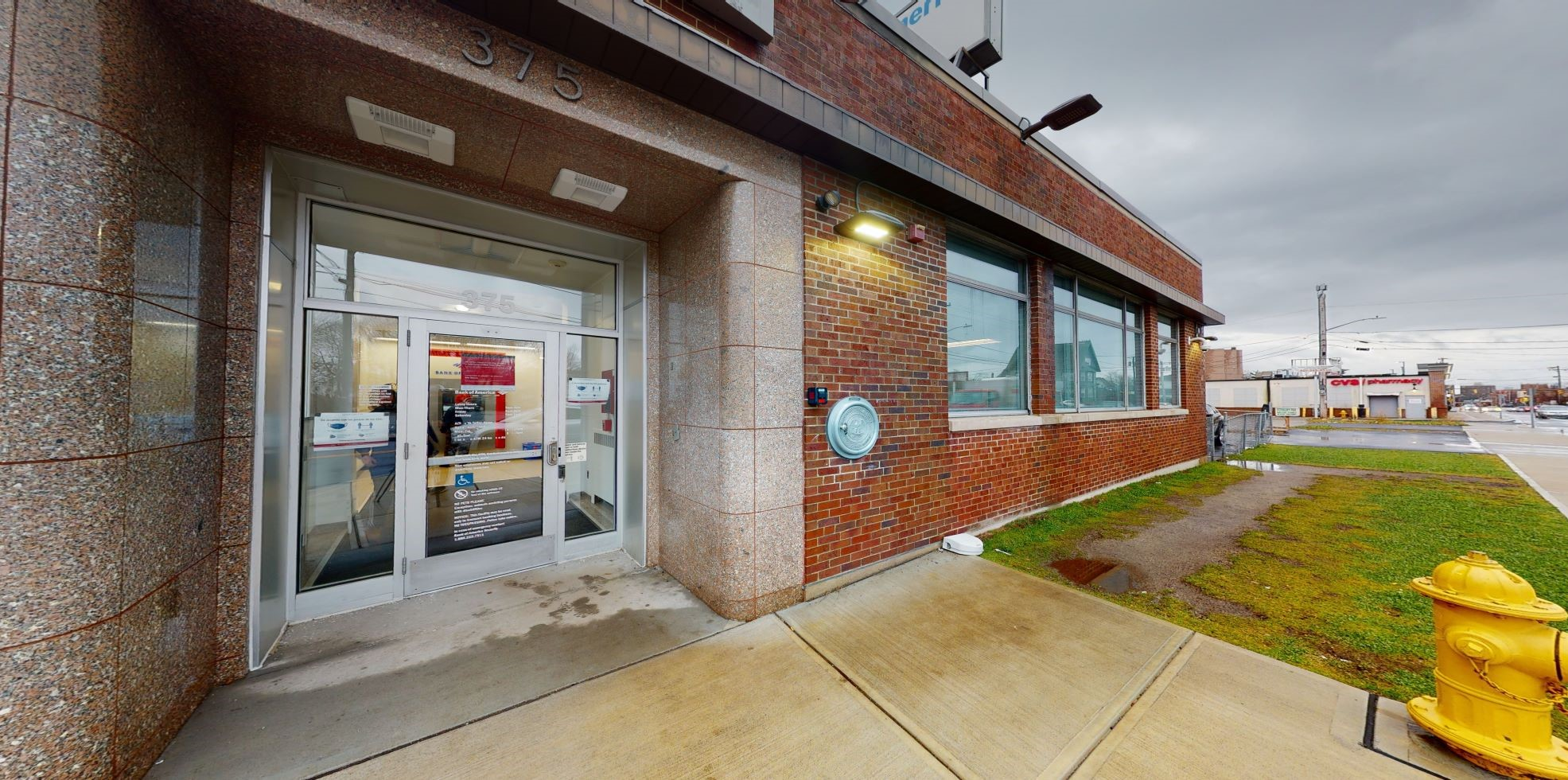 Bank of America financial center with drive-thru ATM   375 Broad St, Central Falls, RI 02863