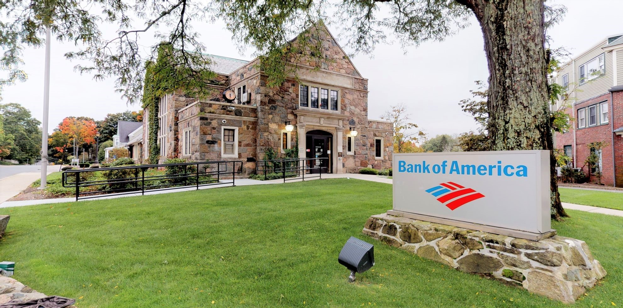 Bank of America financial center with drive-thru ATM | 342 Washington St, Wellesley, MA 02481