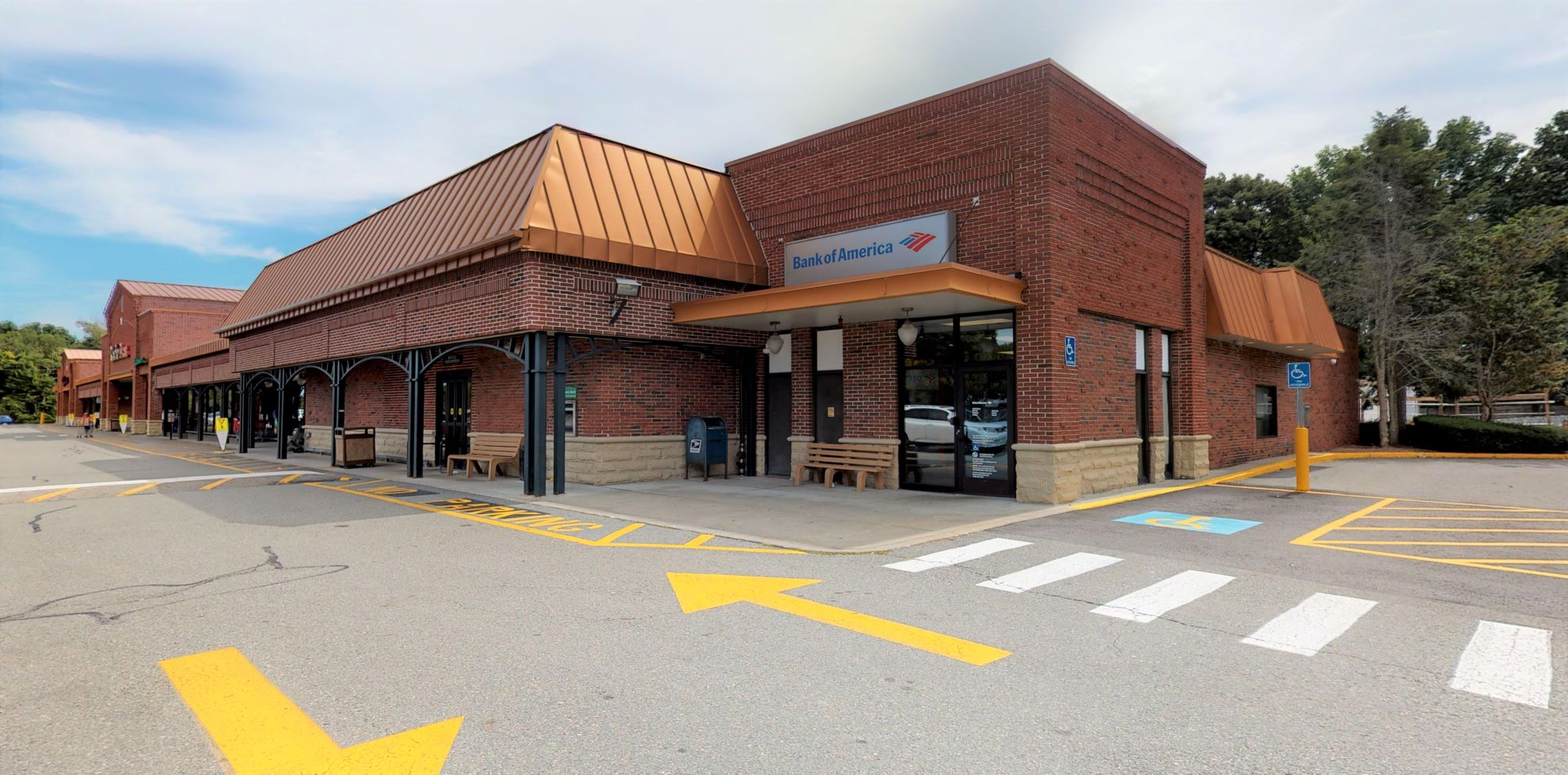 Bank of America financial center with walk-up ATM   152 W Central St, Natick, MA 01760