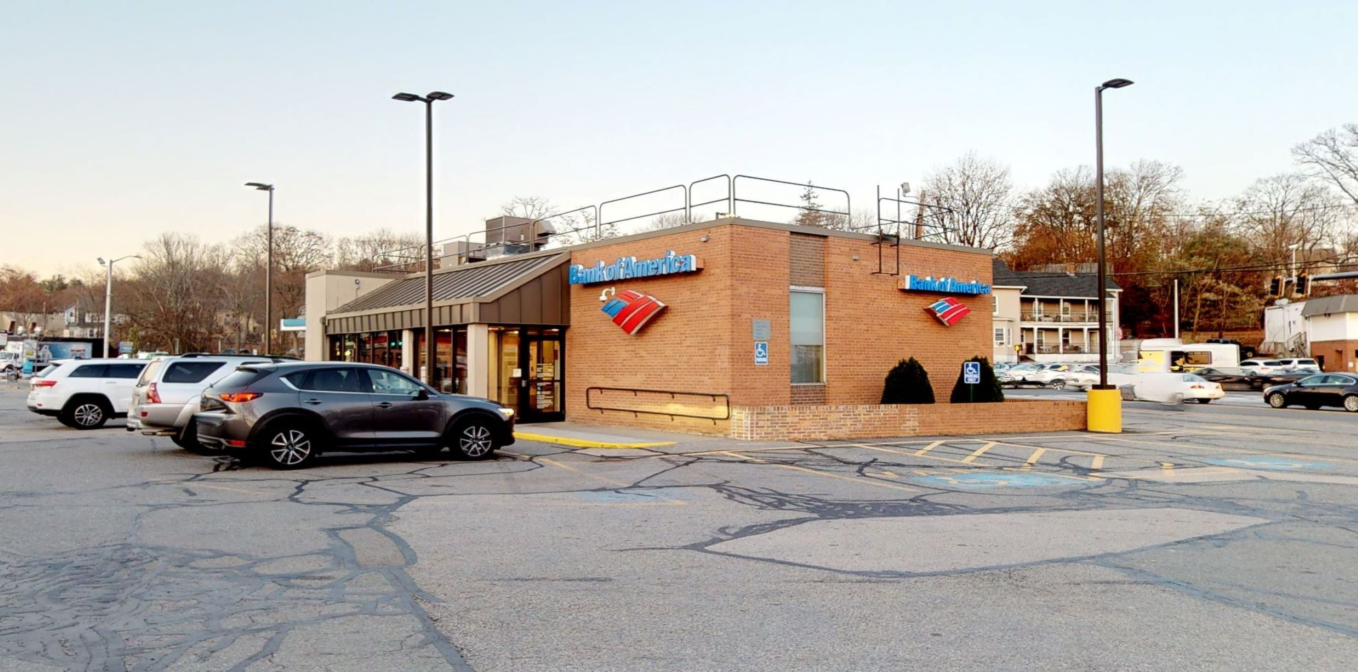 Bank of America financial center with drive-thru ATM   638 Chandler St, Worcester, MA 01602