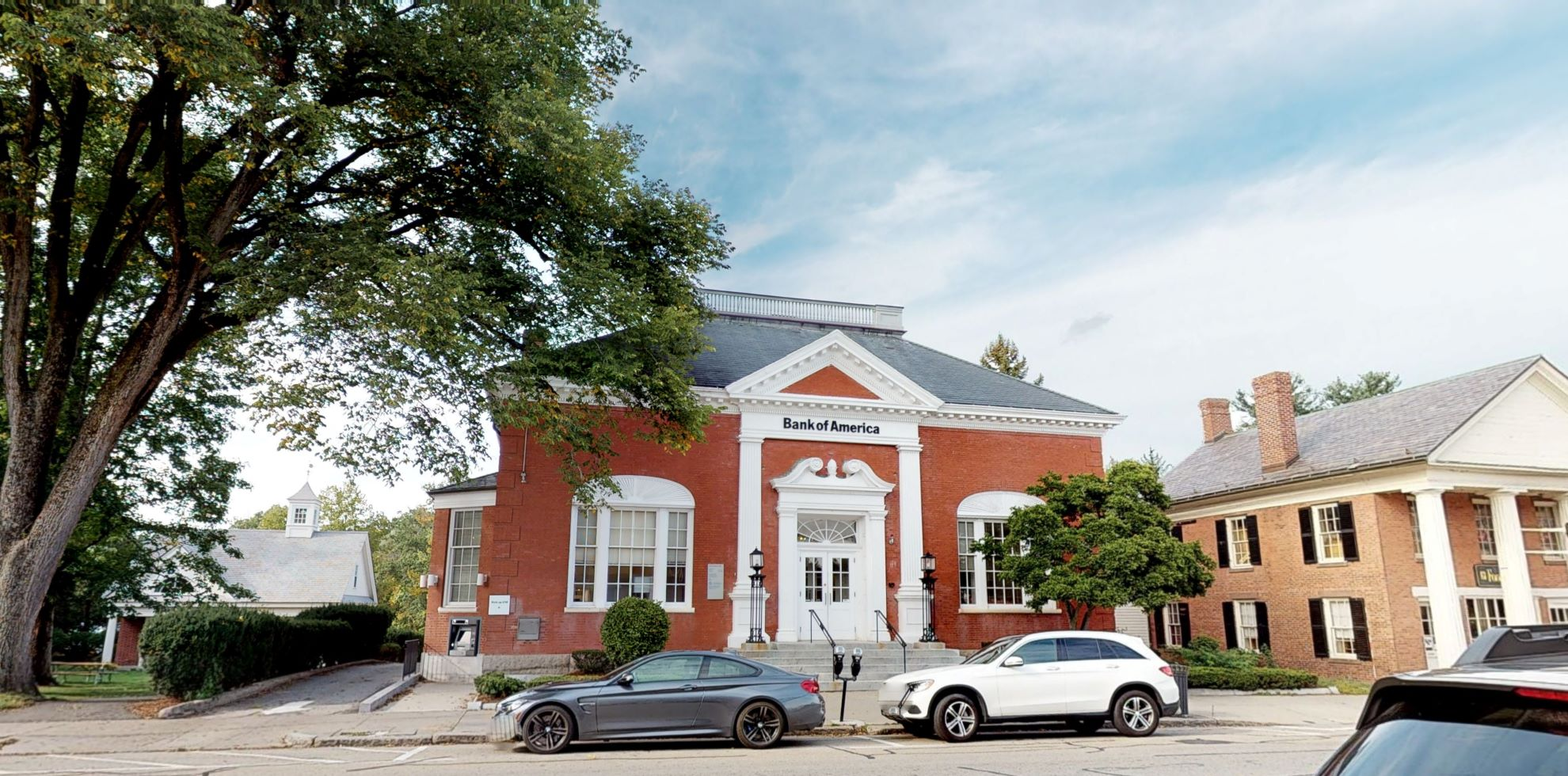 Bank of America financial center with drive-thru ATM   52 Main St, Concord, MA 01742