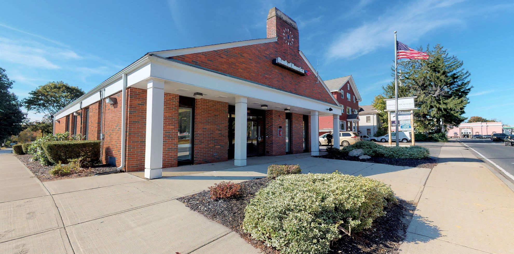 Bank of America financial center with drive-thru ATM   16 School St, Foxborough, MA 02035