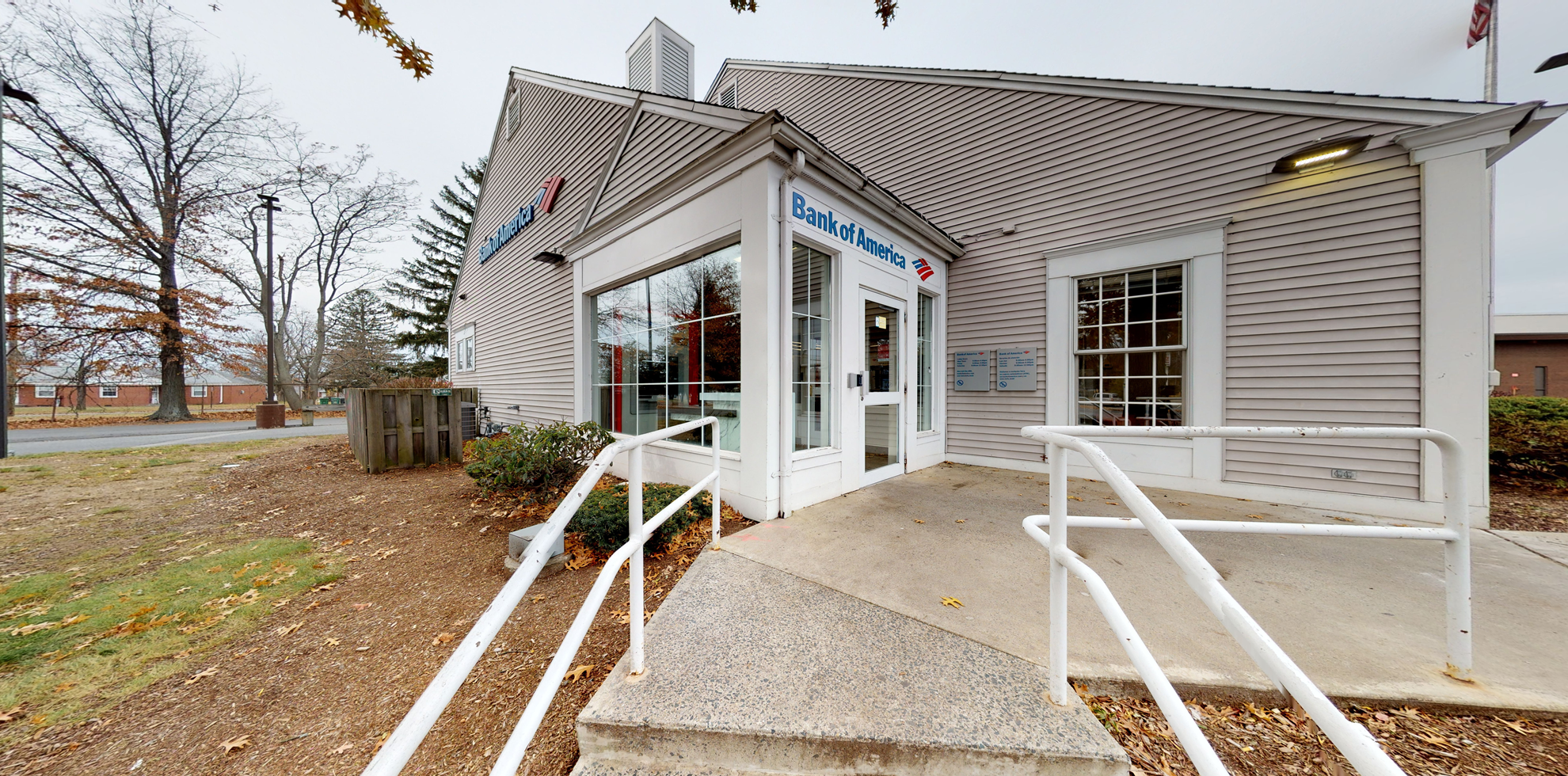Bank of America financial center with drive-thru ATM   1316 Carew St, Springfield, MA 01104