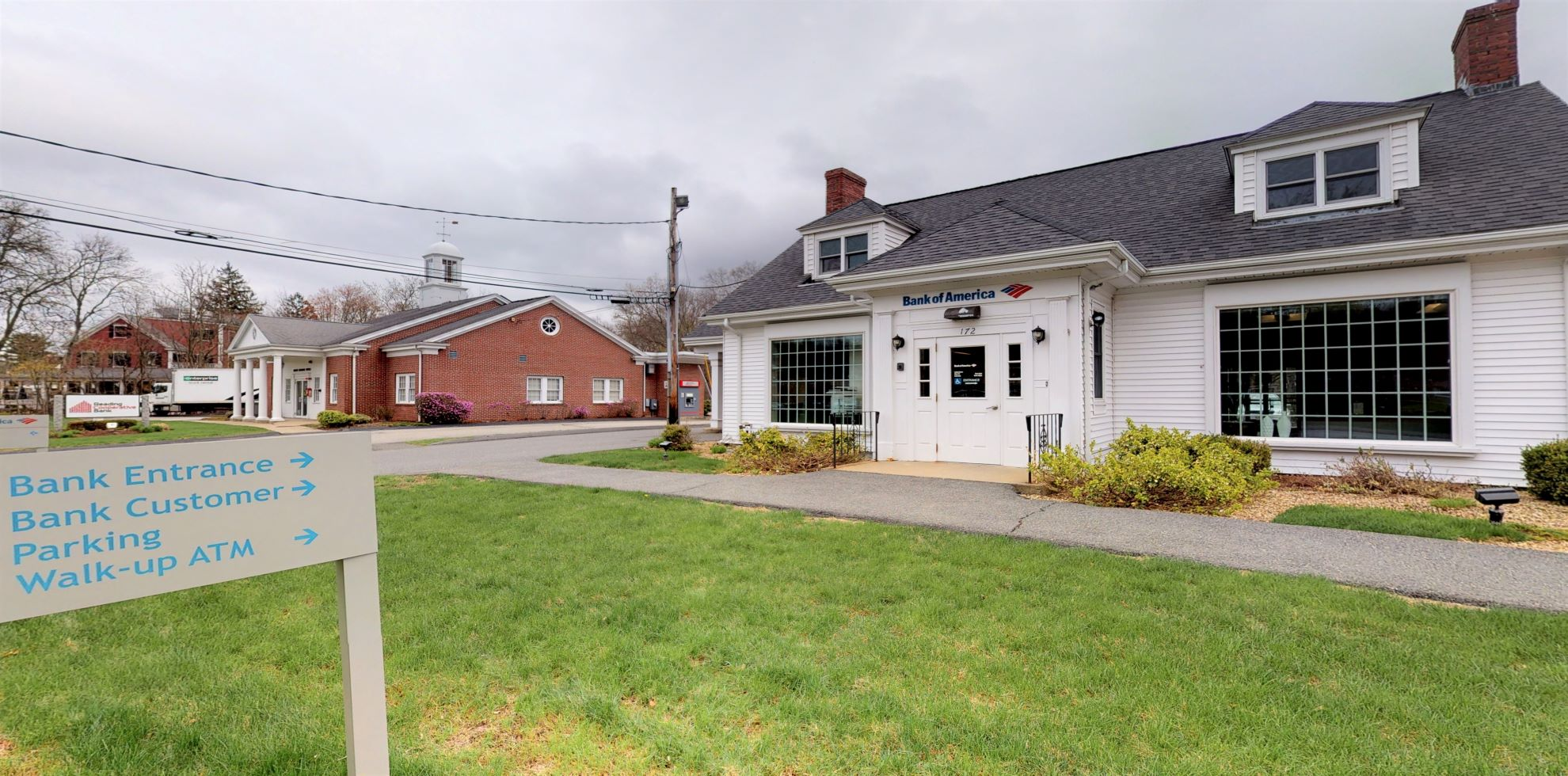 Bank of America financial center with drive-thru ATM | 172 Park St, North Reading, MA 01864