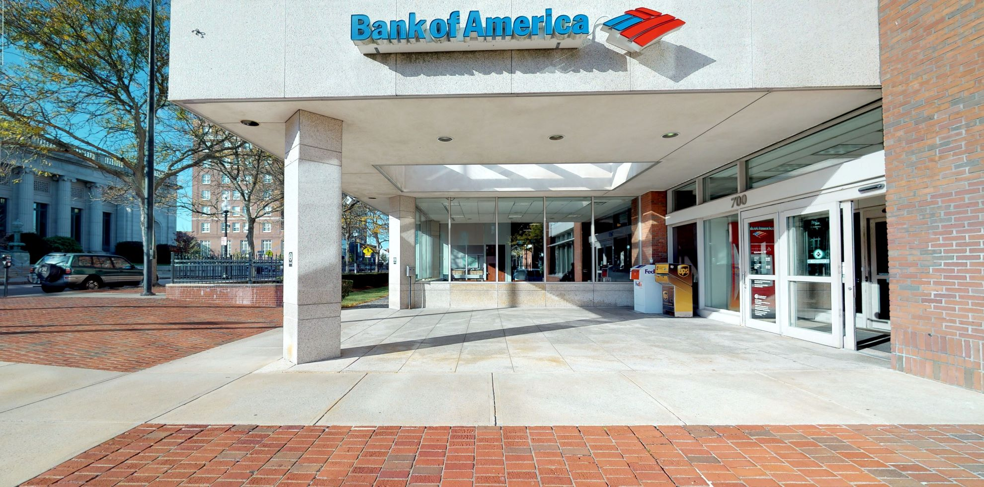 Bank of America financial center with drive-thru ATM and teller   700 Pleasant St, New Bedford, MA 02740
