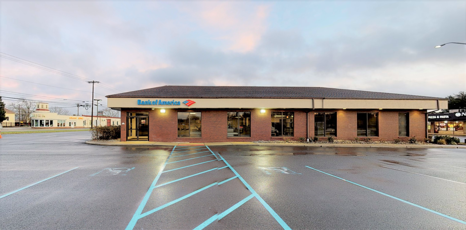 Bank of America financial center with drive-thru ATM and teller   222 S White Horse Pike, Hammonton, NJ 08037