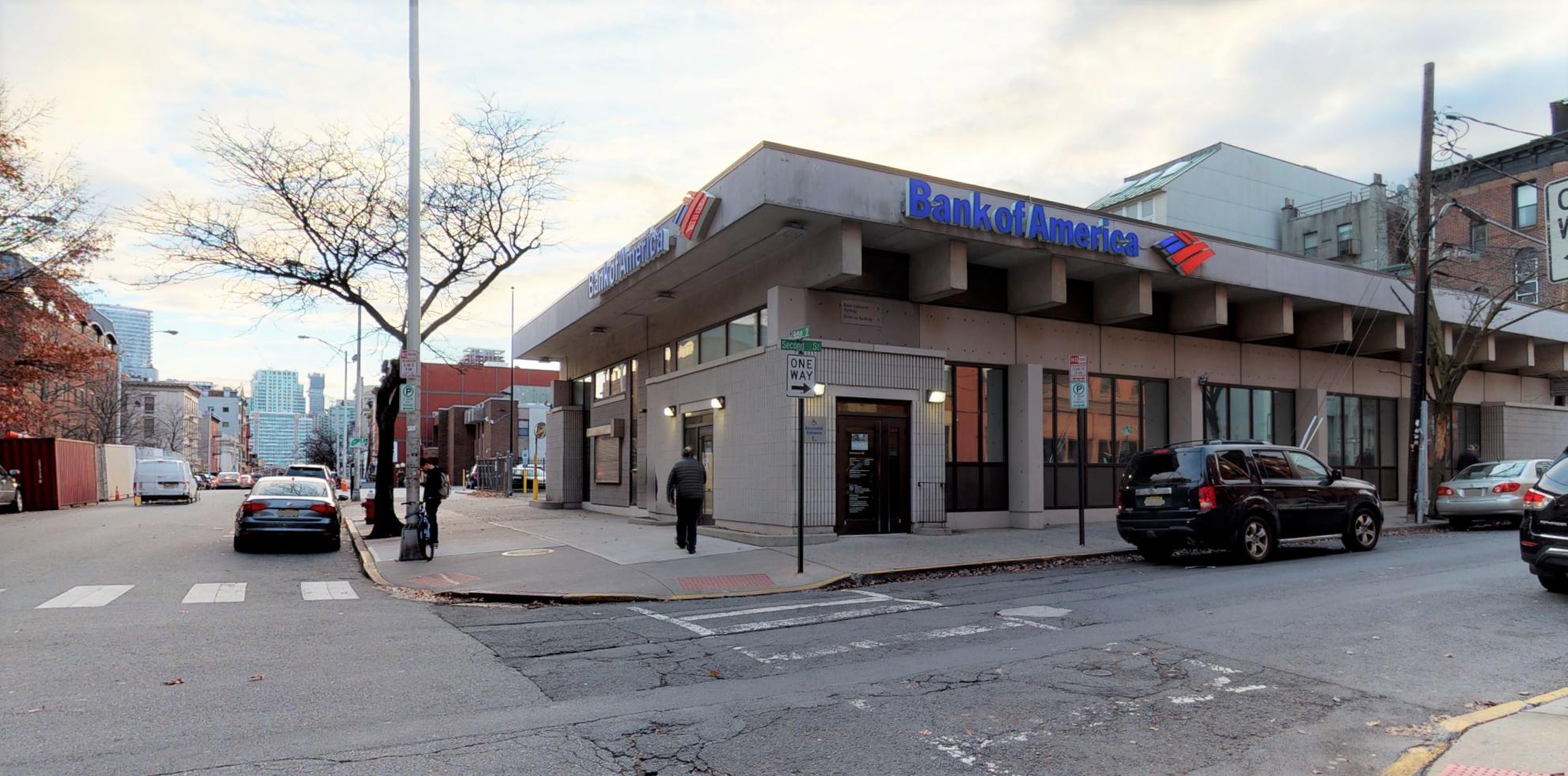 Bank of America financial center with drive-thru ATM | 1 Firehouse Plz, Hoboken, NJ 07030