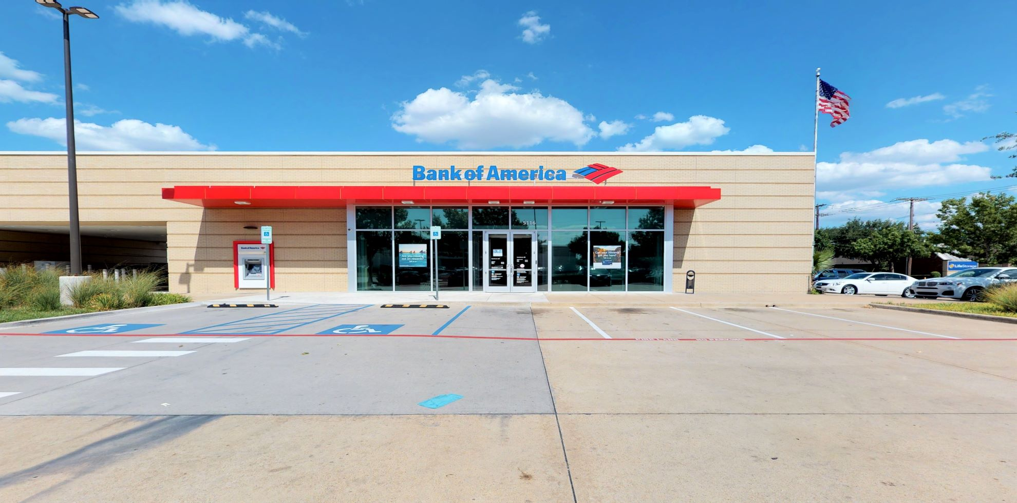Bank of America financial center with drive-thru ATM   5116 Greenville Ave, Dallas, TX 75206