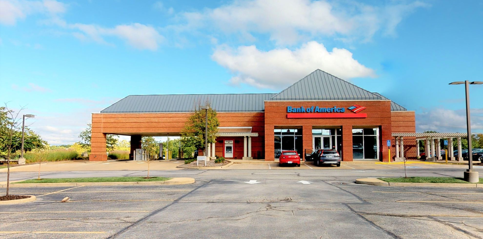 Bank of America financial center with drive-thru ATM   2412 Taylor Rd, Wildwood, MO 63040