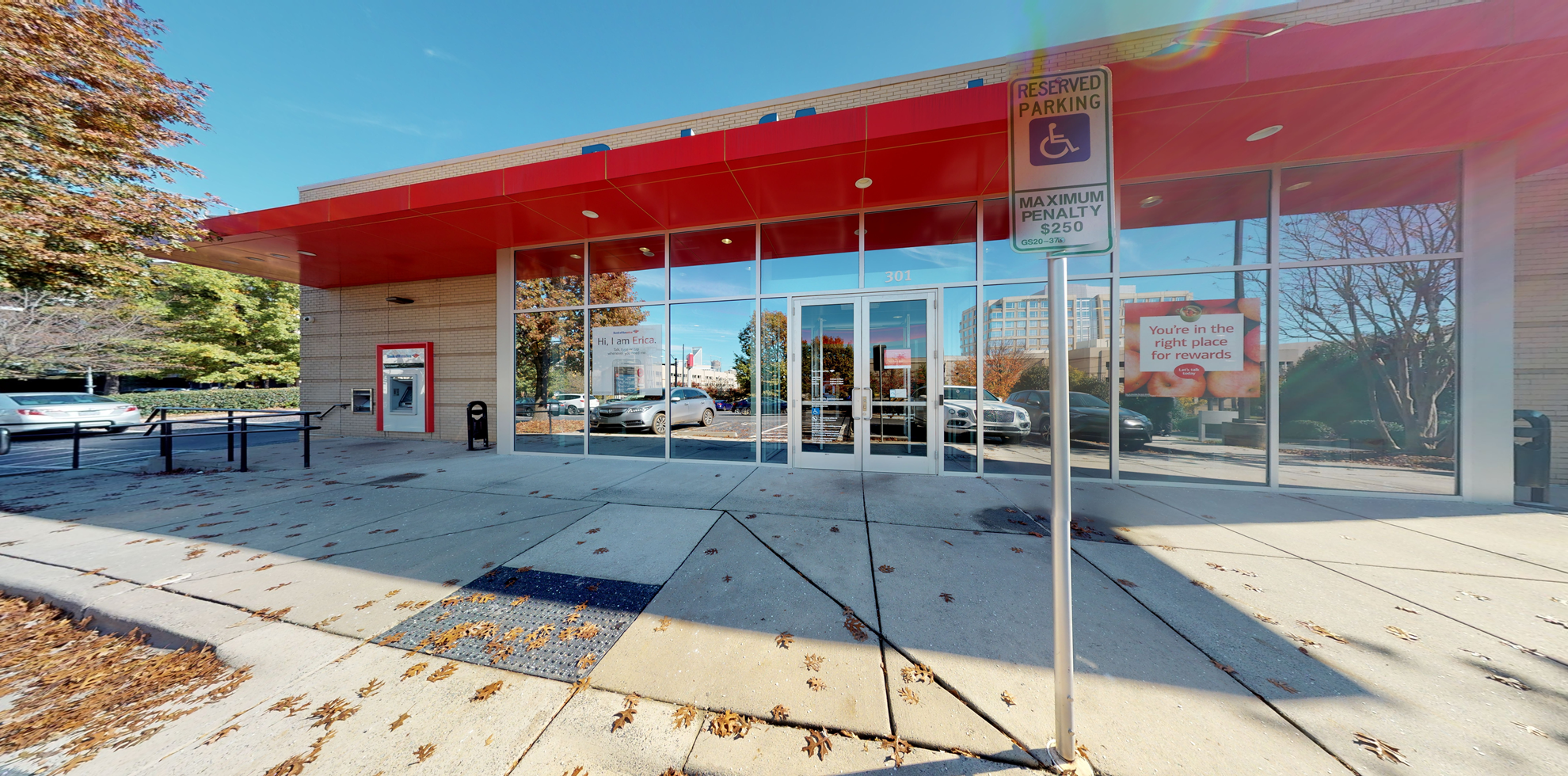 Bank of America financial center with drive-thru ATM | 301 S Kings Dr, Charlotte, NC 28204