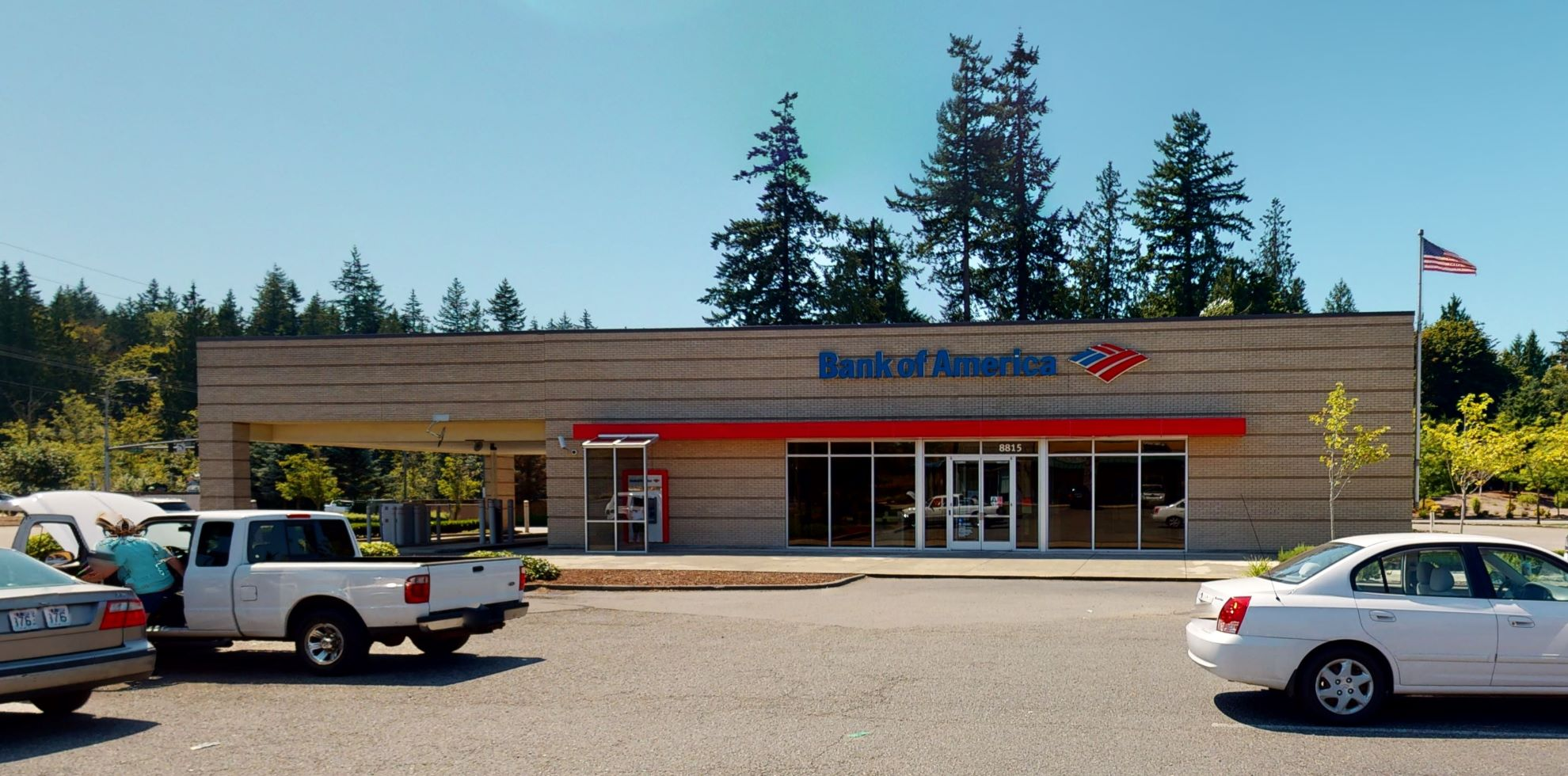 Bank of America financial center with drive-thru ATM and teller   8815 34th Ave NE, Tulalip, WA 98271