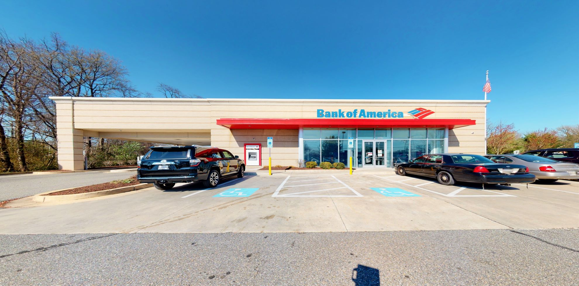 Bank of America financial center with drive-thru ATM   2001 Davidsonville Rd, Crofton, MD 21114
