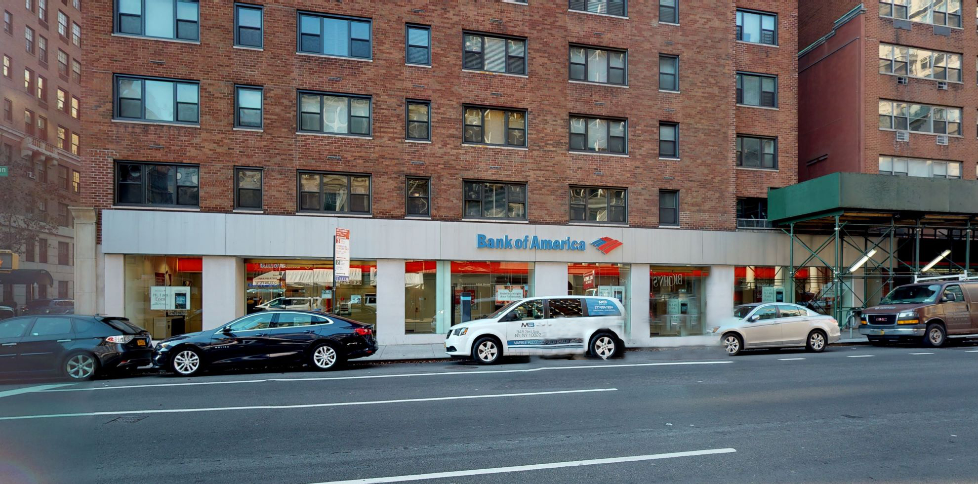 Bank of America financial center with walk-up ATM   1066 Lexington Ave, New York, NY 10021