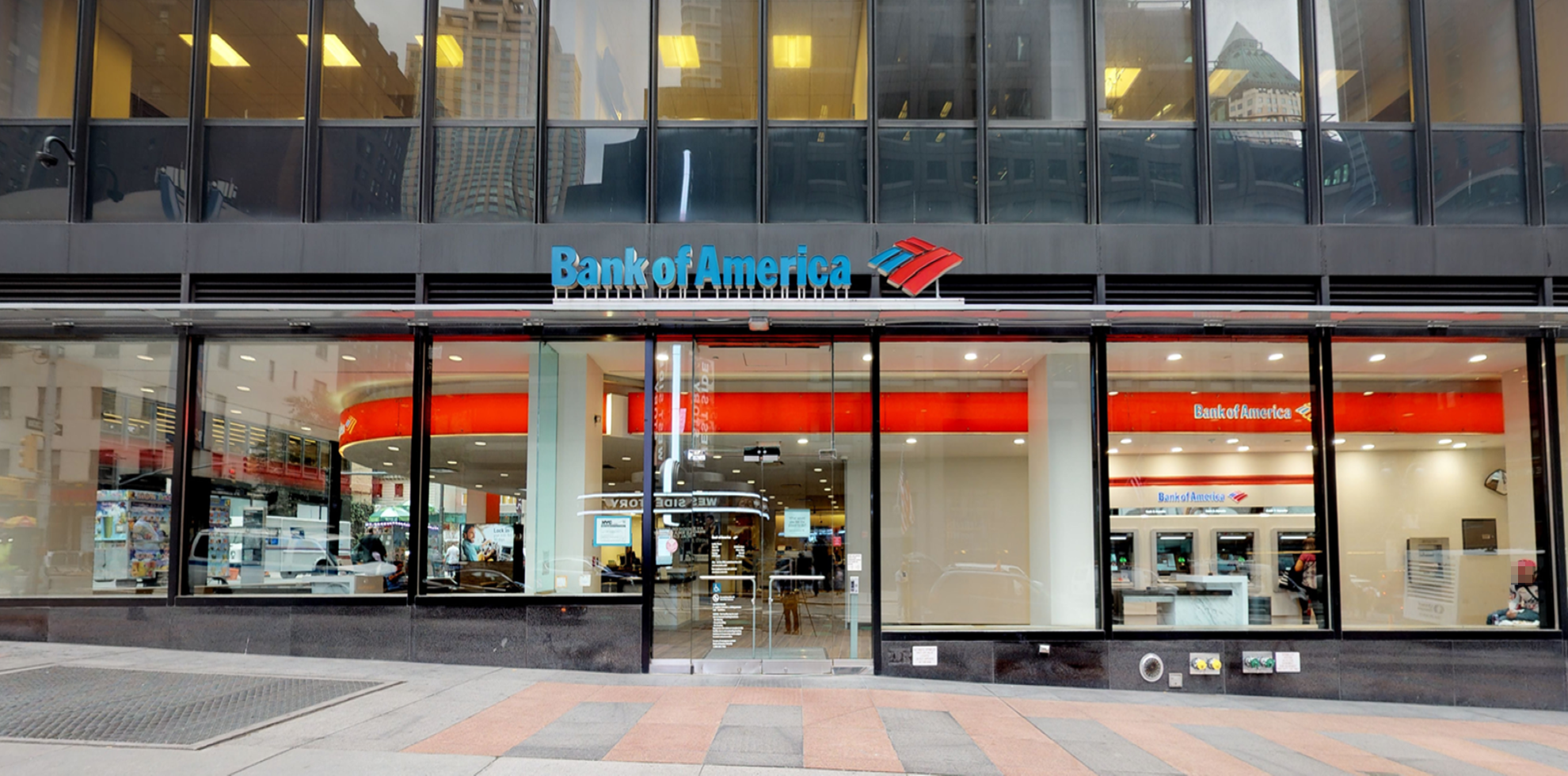 Bank of America financial center with walk-up ATM | 1680 Broadway, New York, NY 10019