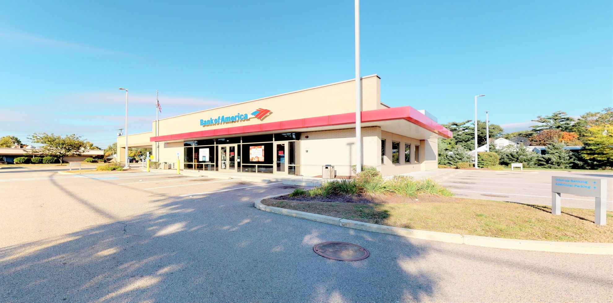 Bank of America financial center with drive-thru ATM and teller   330 Washington St, Stoughton, MA 02072