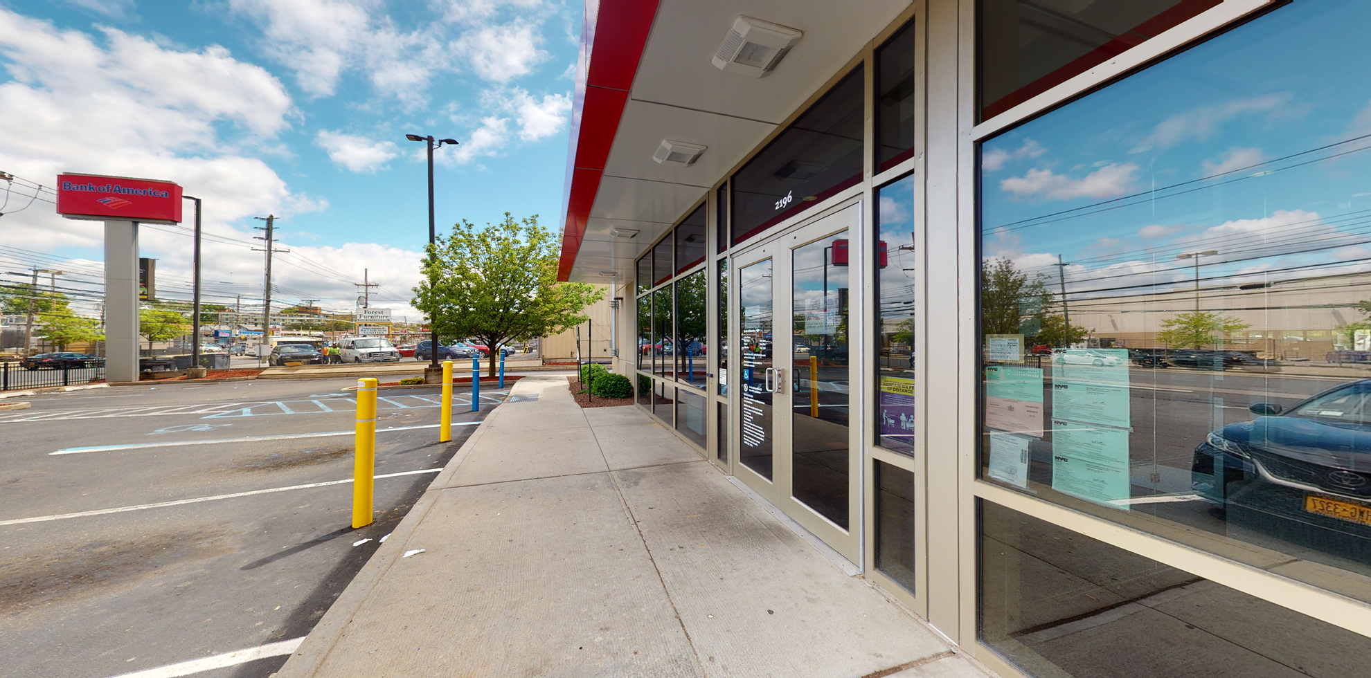 Bank of America financial center with drive-thru ATM and teller   2196 Forest Ave, Staten Island, NY 10303
