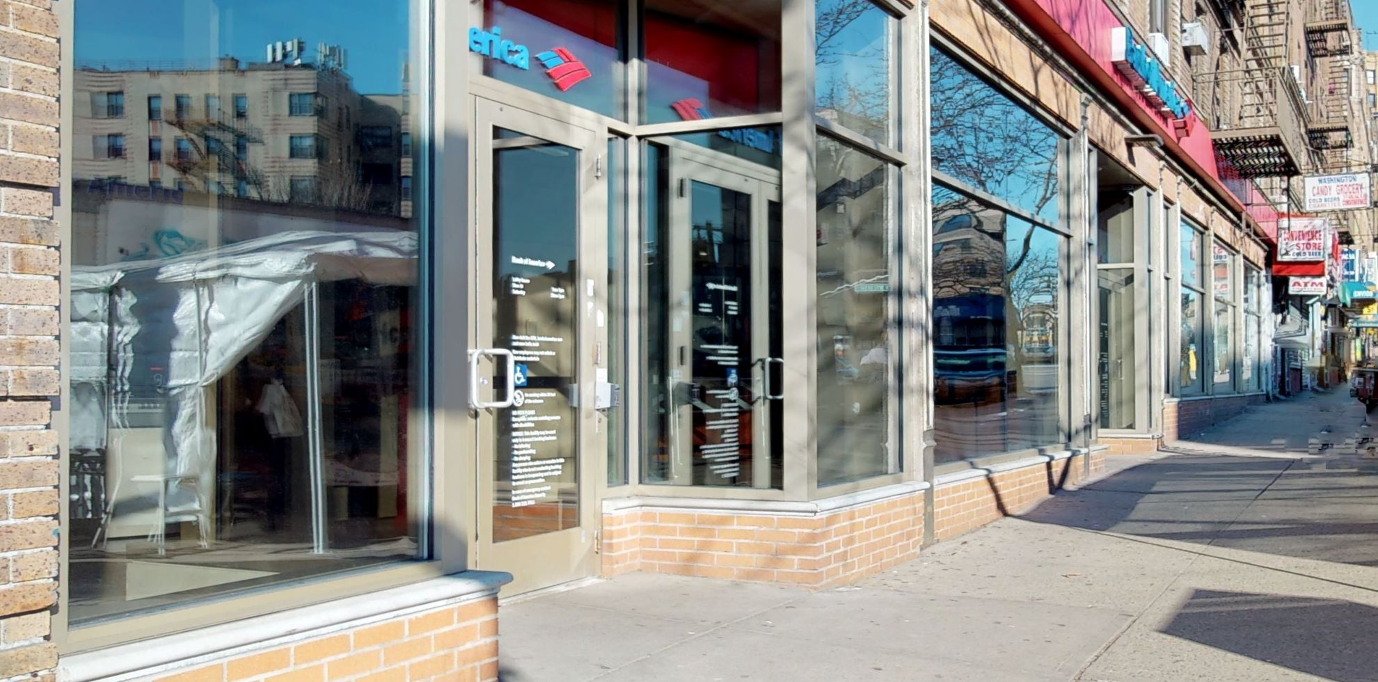 Bank of America financial center with walk-up ATM | 4061 Broadway, New York, NY 10032
