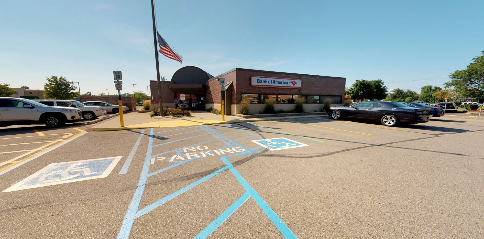 Bank of America financial center with drive-thru ATM   8516 W Grand River Ave, Brighton, MI 48116