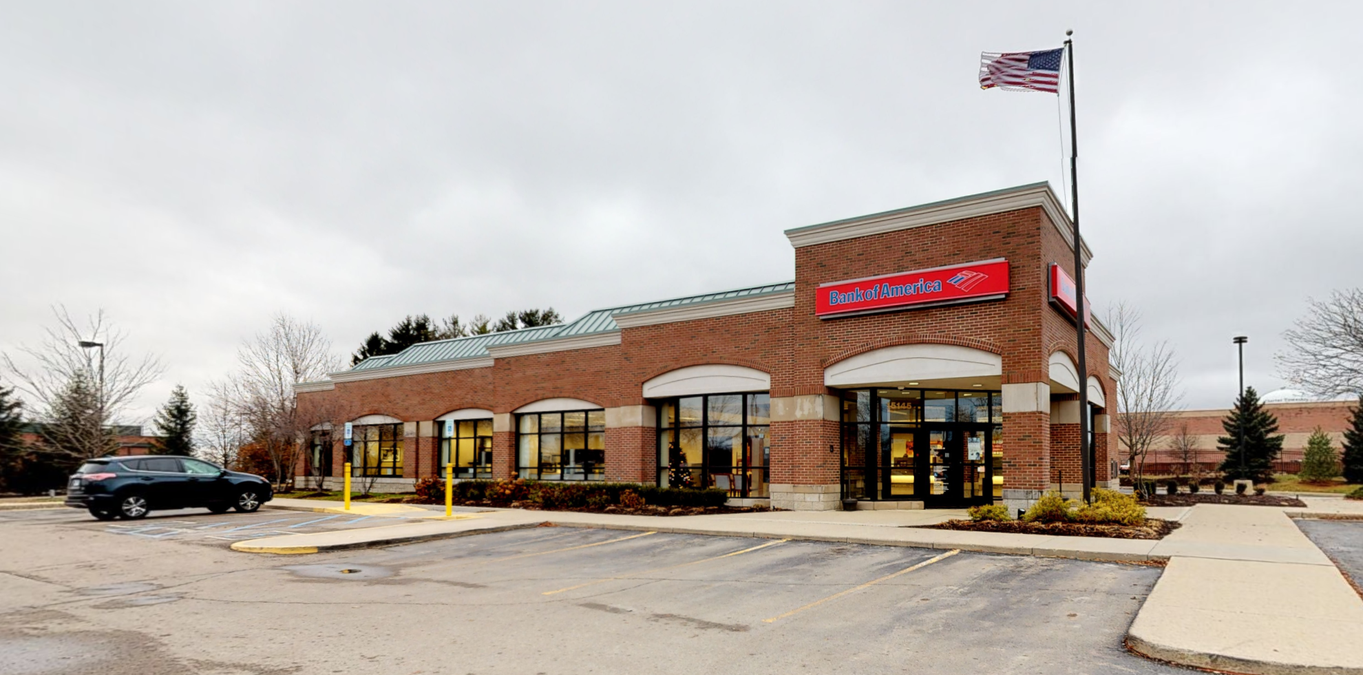 Bank of America financial center with drive-thru ATM | 15145 N Beck Rd, Plymouth, MI 48170