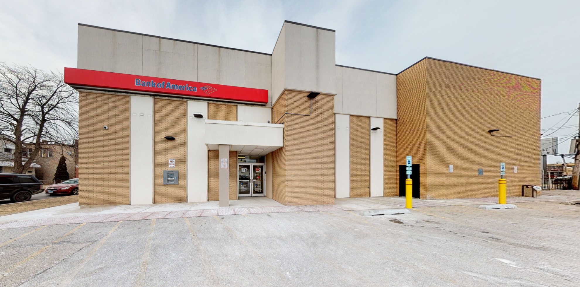 Bank of America financial center with drive-thru ATM   1718 W Lake St, Melrose Park, IL 60160