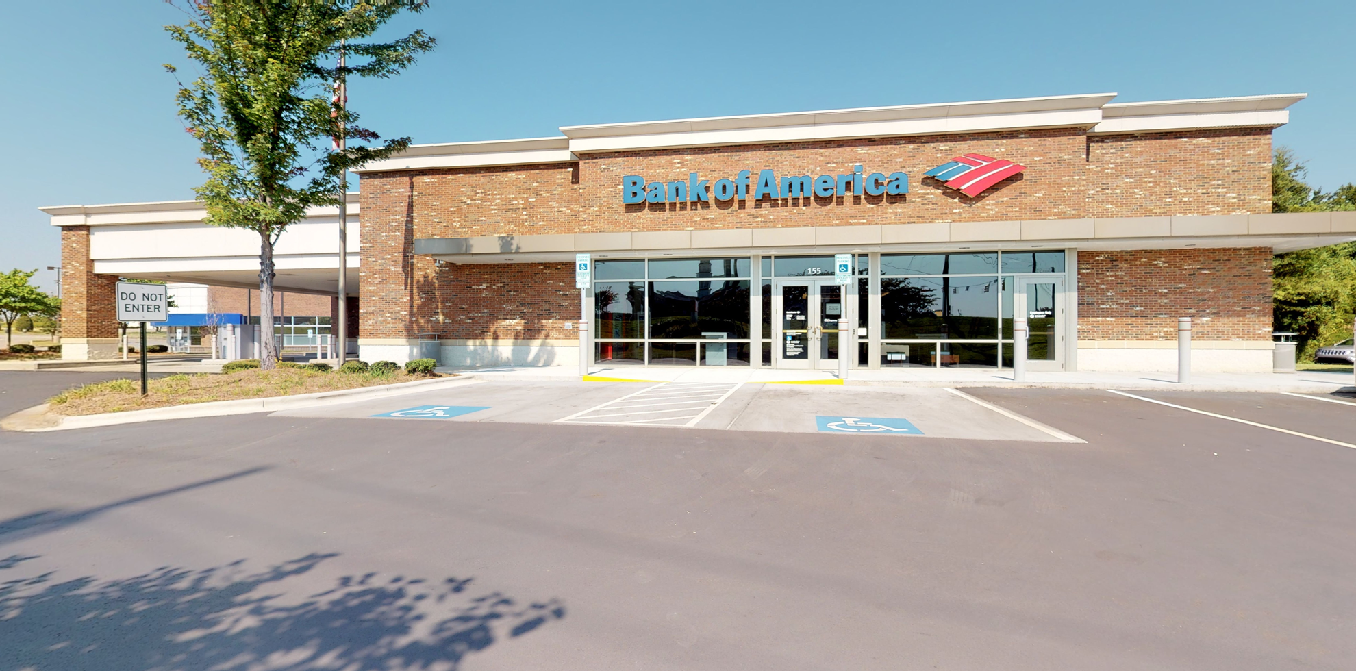 Bank of America financial center with drive-thru ATM   155 Town Center Dr, Mooresville, NC 28117