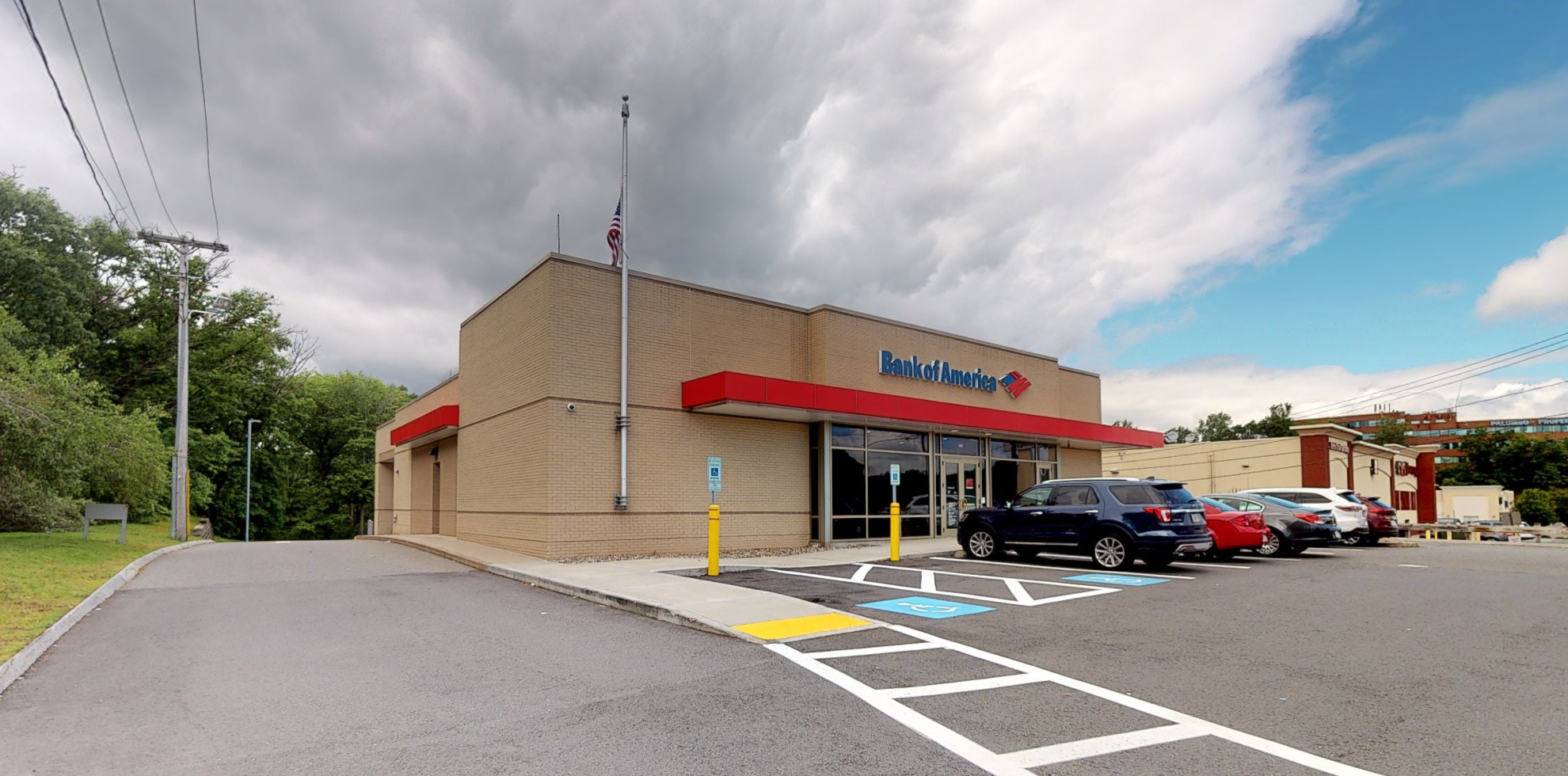 Bank of America financial center with drive-thru ATM   1093 Broadway, Saugus, MA 01906