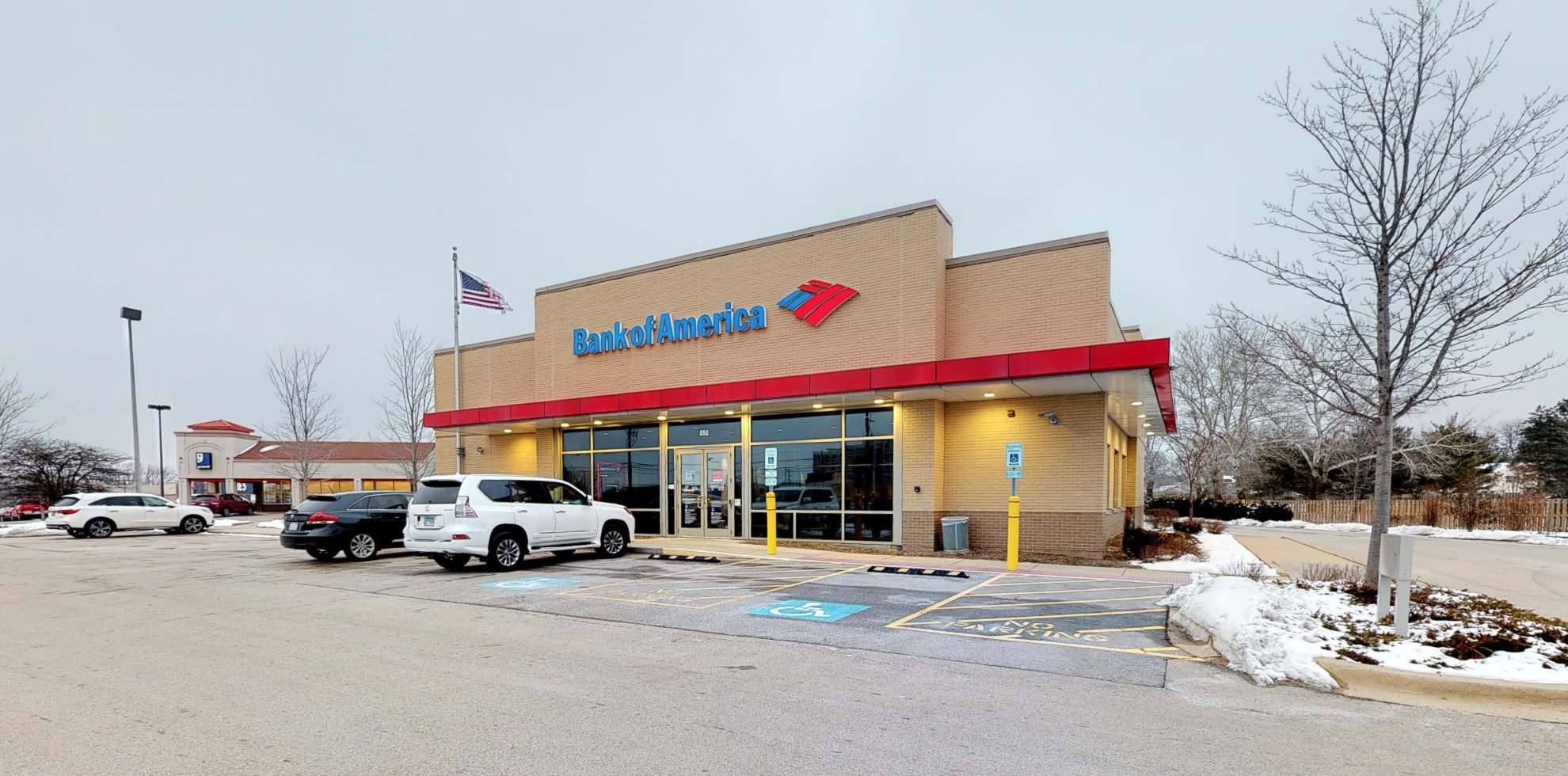 Bank of America financial center with drive-thru ATM   850 W Algonquin Rd, Arlington Heights, IL 60005