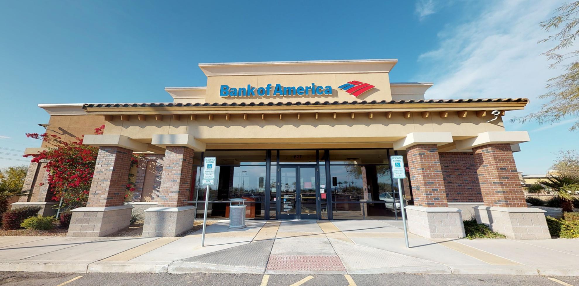 Bank of America financial center with drive-thru ATM | 827 S Cotton Ln, Goodyear, AZ 85338